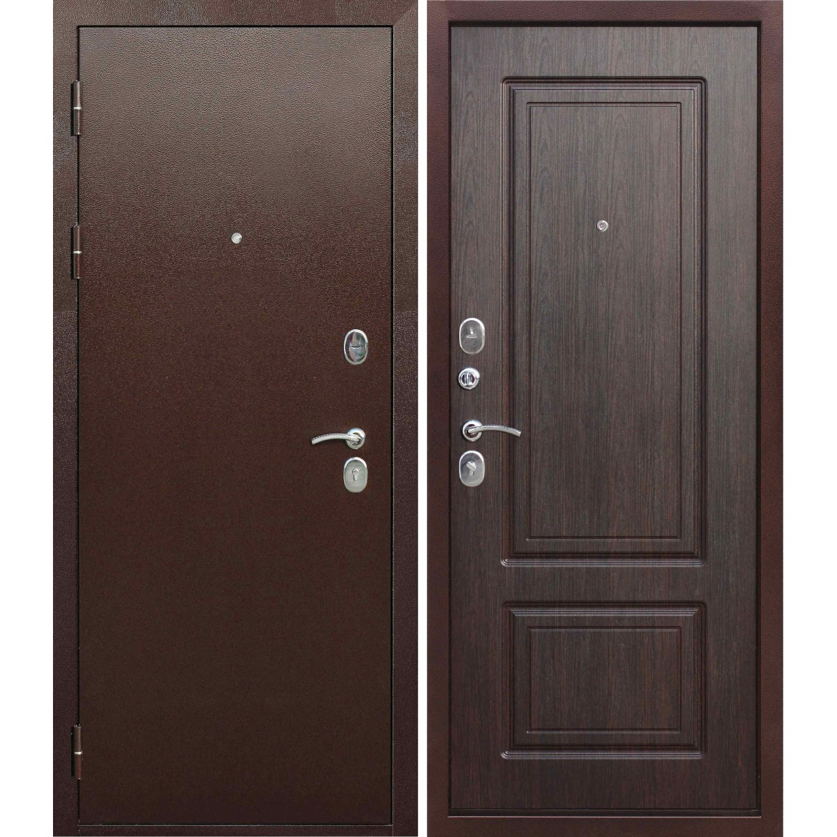 Дверь входная металлическая Толстяк медный антик Венге 960х2050 мм левая