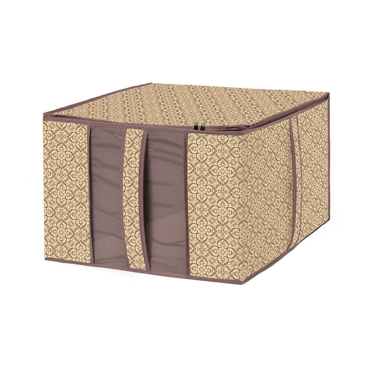 Чехол для хранения постельных принадлежностей Гелеос Миндаль МНД 28 60х50х35 см