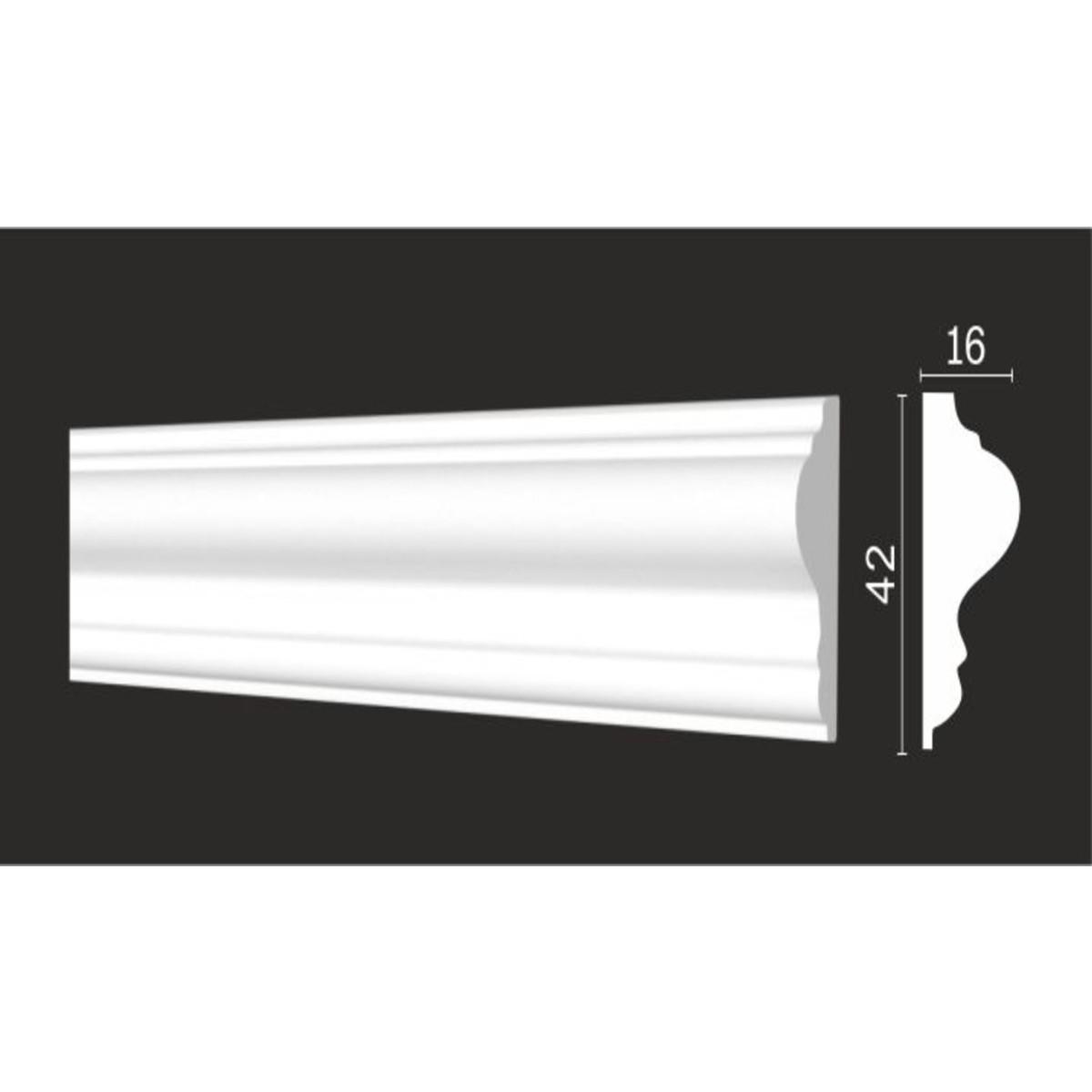 Молдинг стеновой Decor-Dizayn DD301 16х200 см дюропласт