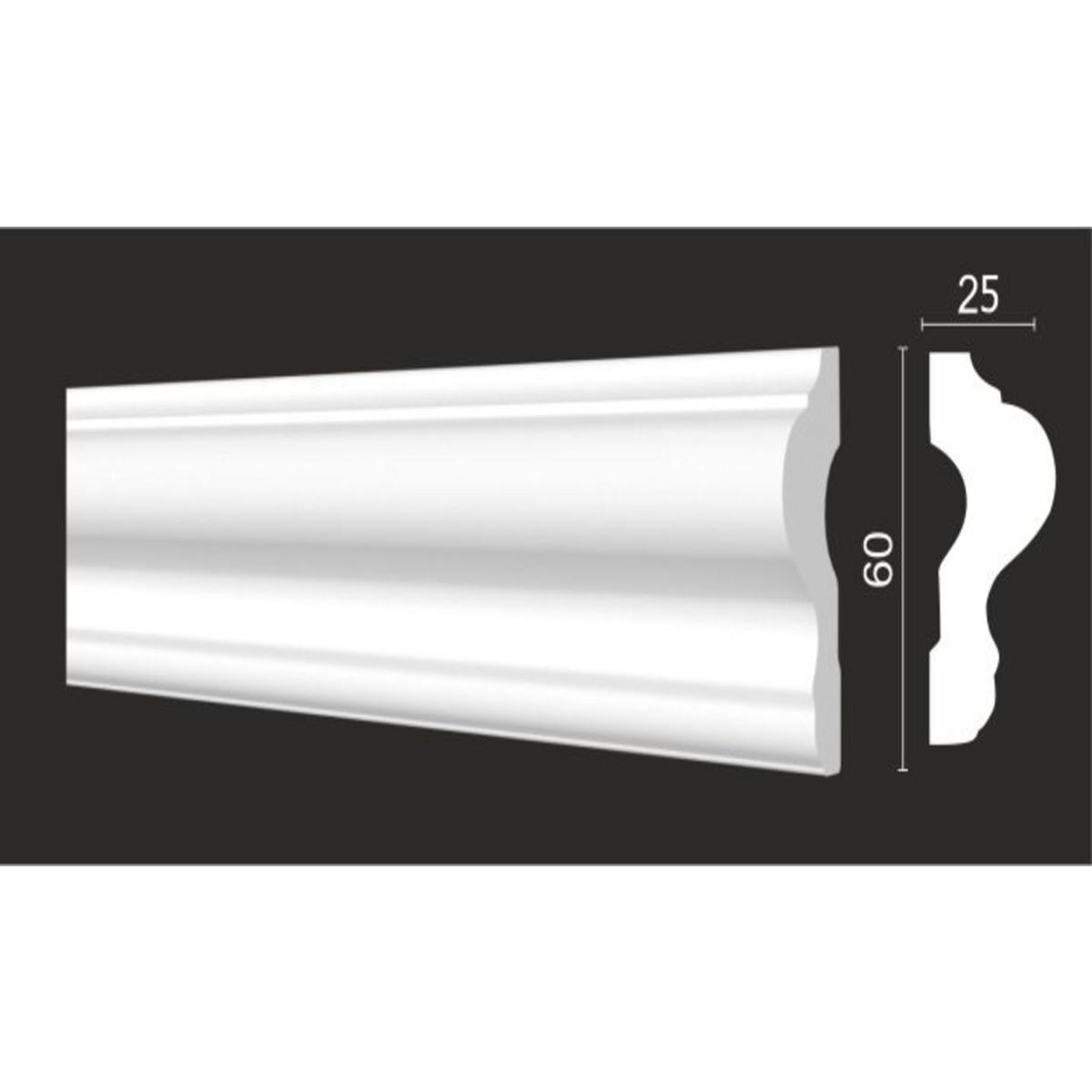 Молдинг стеновой Decor-Dizayn DD302 25х200 см дюропласт