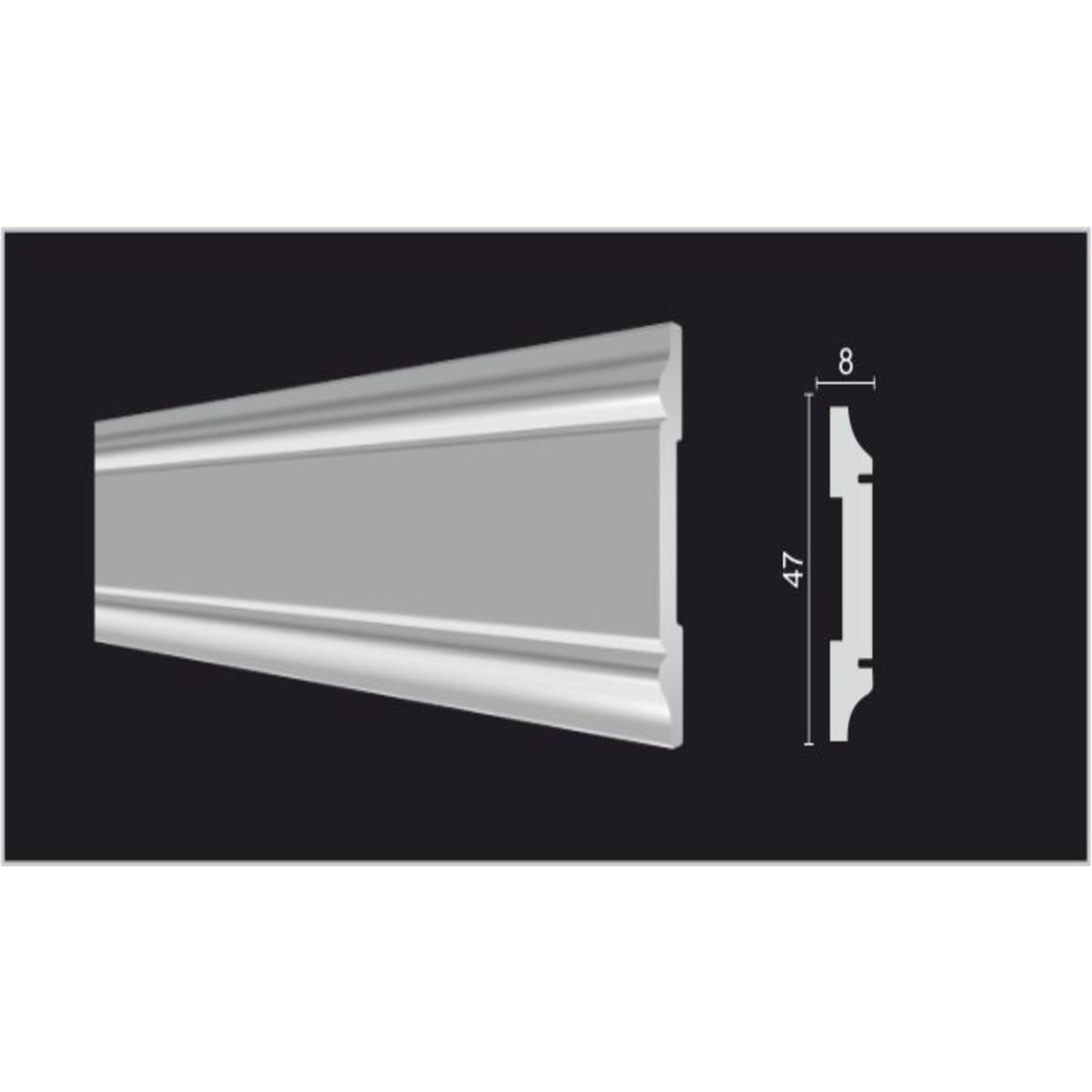 Молдинг стеновой Decor-Dizayn DD32 8х200 см дюропласт