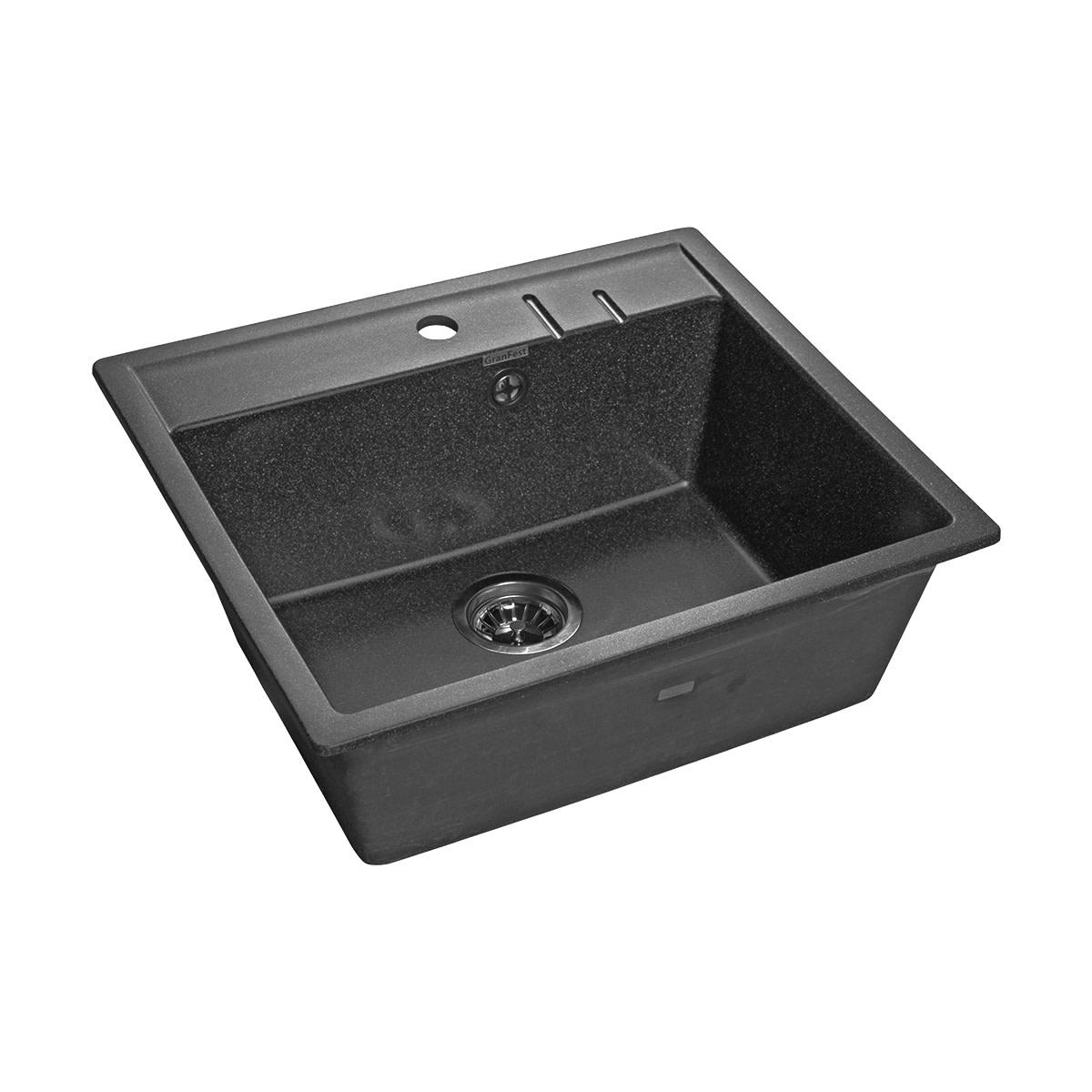 Кухонная мойка GranFest Q-560 QUADROQ-560 графит