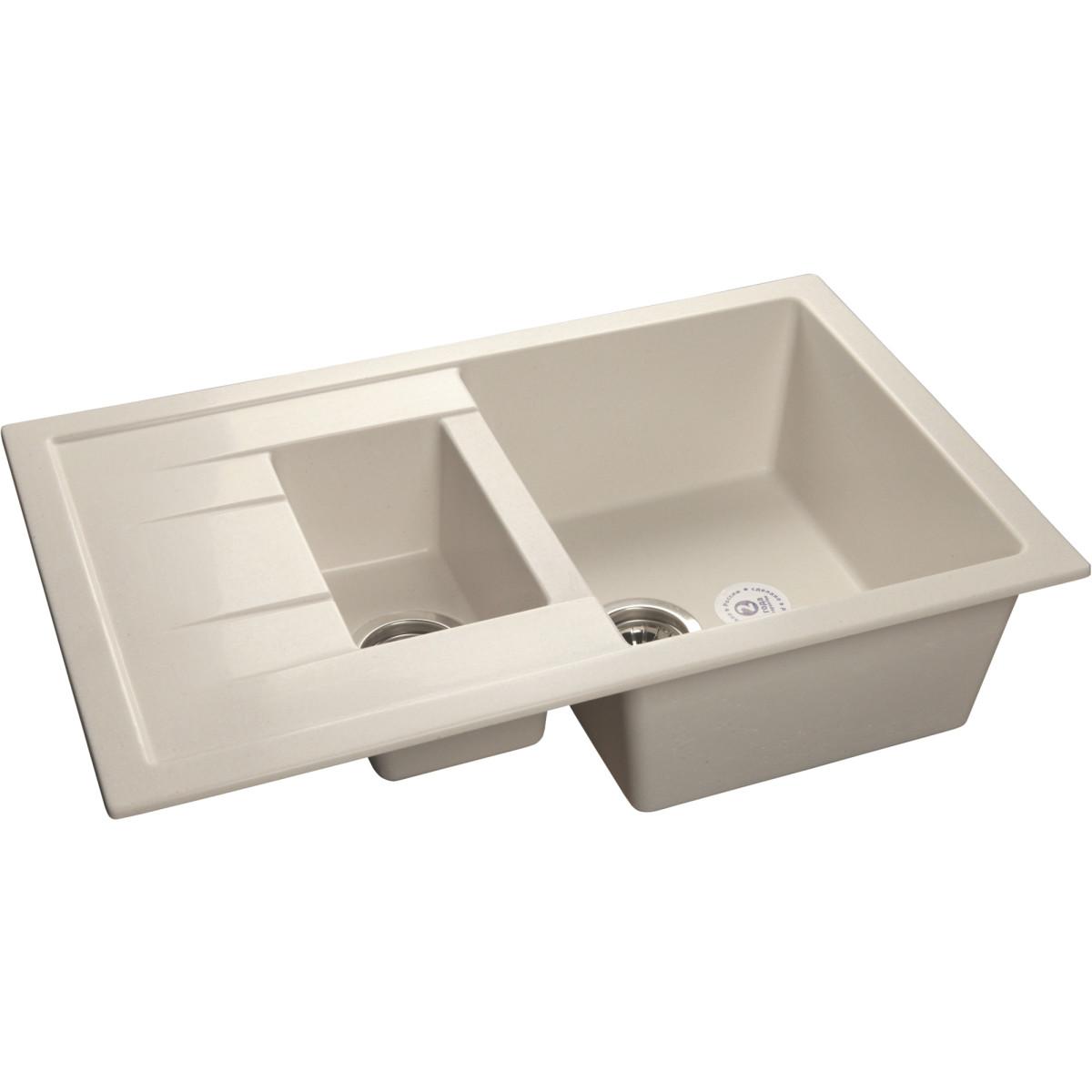 Кухонная мойка GranFest Q-775 KL QUADROQ-775 KL бел
