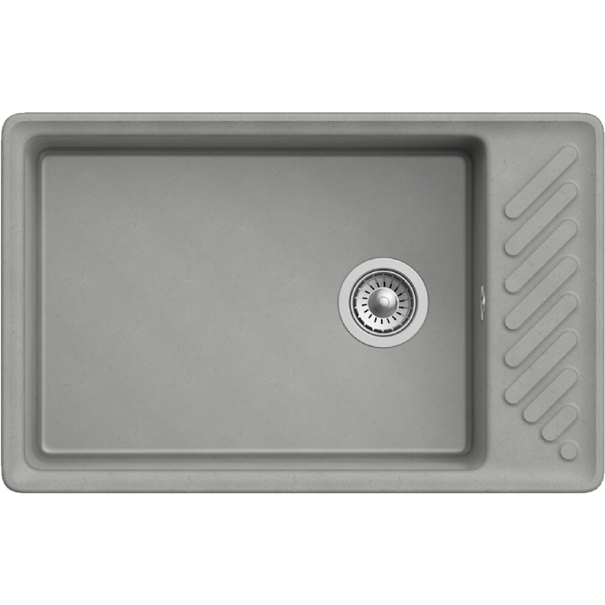Кухонная мойка GranFest Z 51 QUARZ51 серый