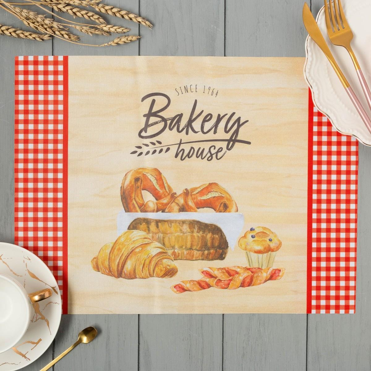 Сервировочная салфетка Доляна Bakery house 4652037 40х30 см