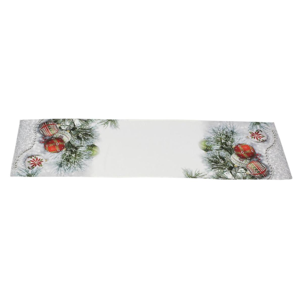 Дорожка на стол Хит-декор Елочные шары 06590 140х40 см