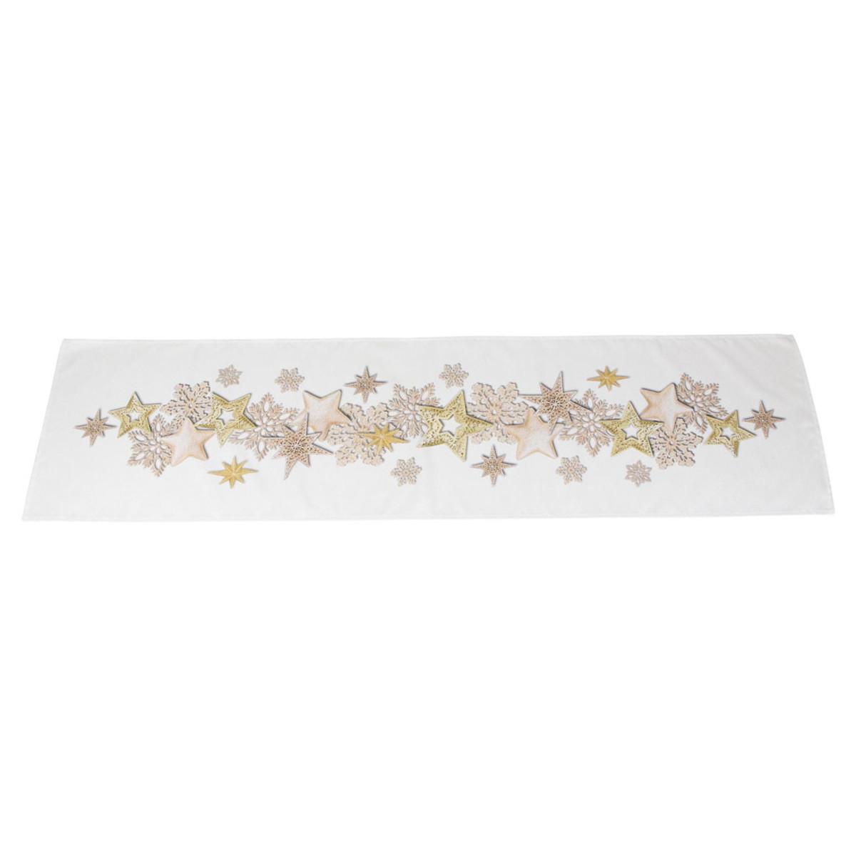 Дорожка на стол Хит-декор Золотой хоровод 07705 140х40 см