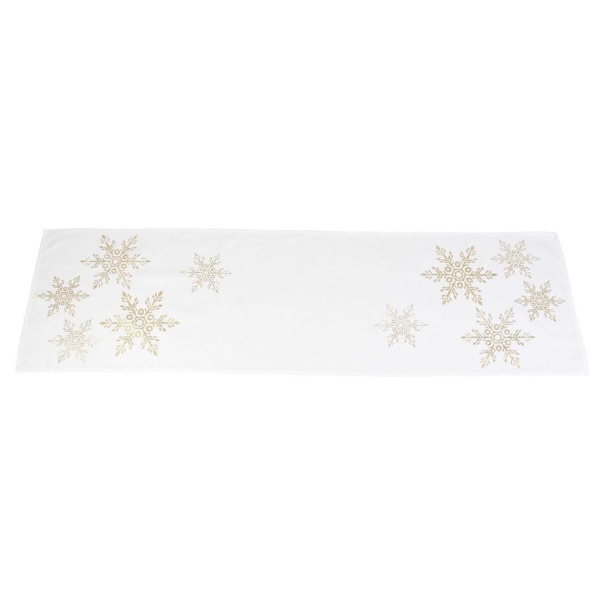 Дорожка на стол Хит-декор Золотой снег 07723 140х40 см