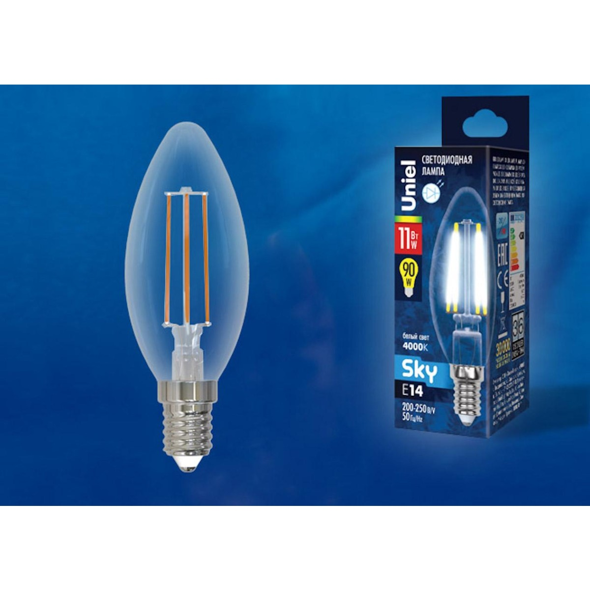 Светодиодная лампочка Uniel UL-00005165 E14 900 Лм 11 Вт