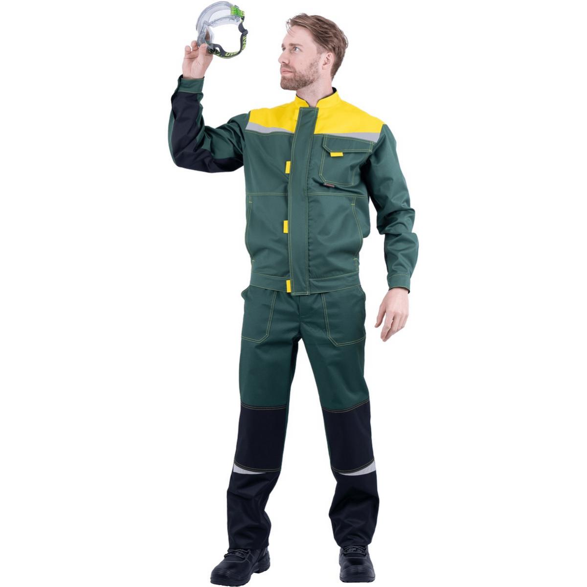 Костюм КМ-10 ЛЮКС зеленый-желтый (разм. 96-100 рост 158-164)