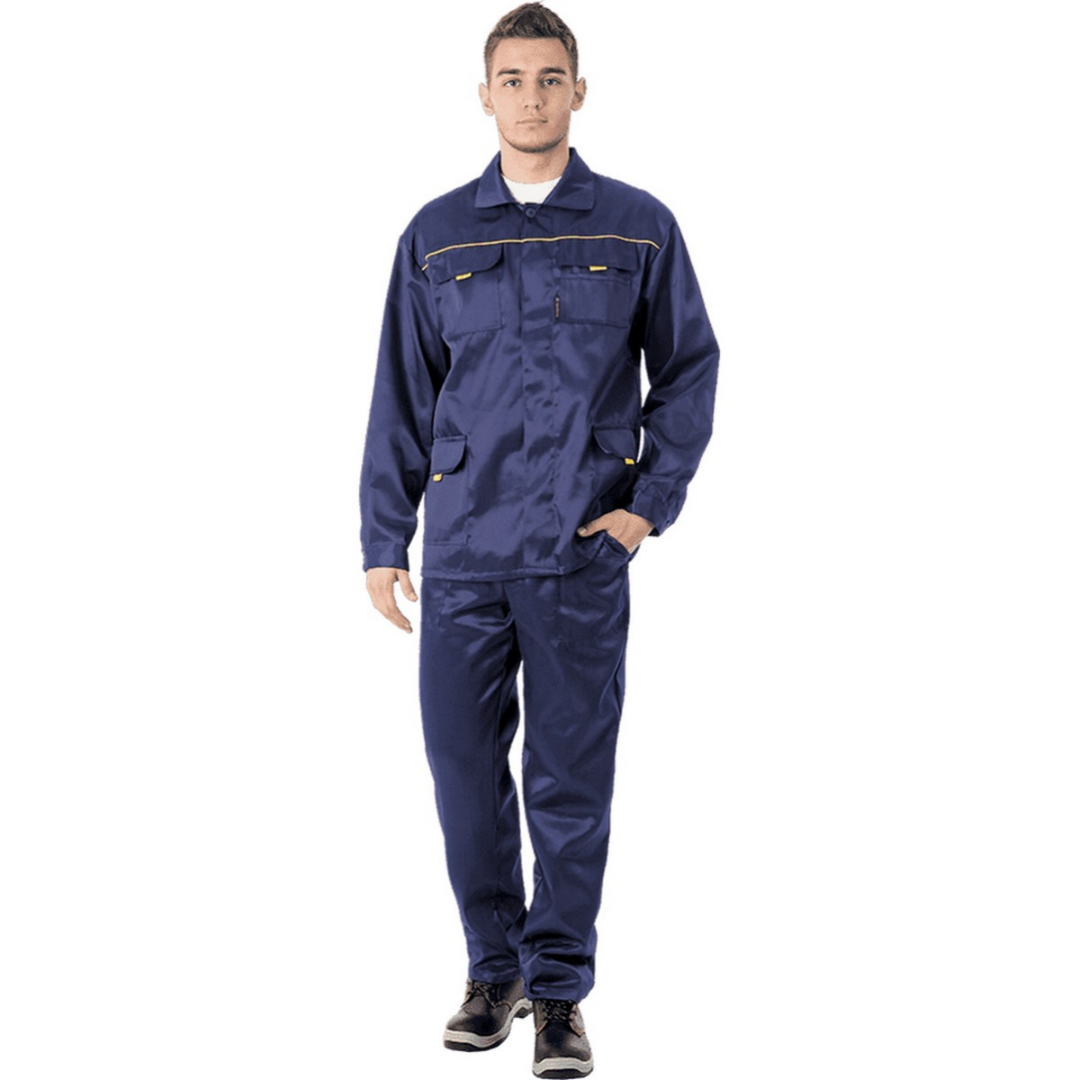 Костюм ВЫМПЕЛ-1 т/синий (куртка+брюки)  (разм. 112-116 рост 170-176)