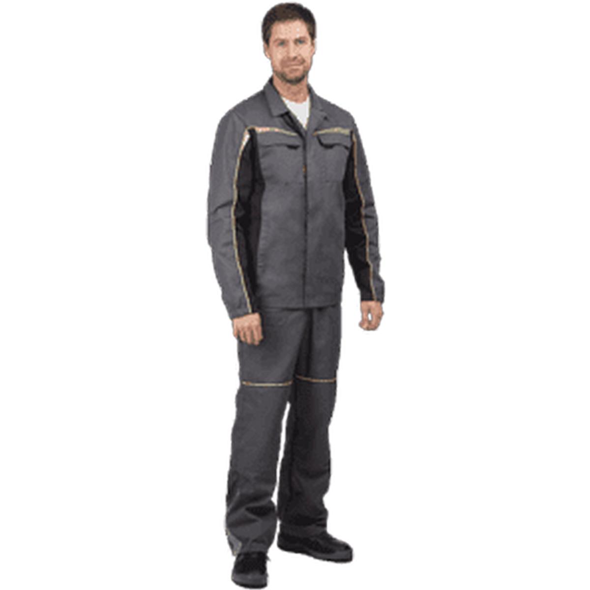 Костюм ФОРСАЖ серый-чёрный (куртка брюки) (разм. 104-108 рост 182-188)