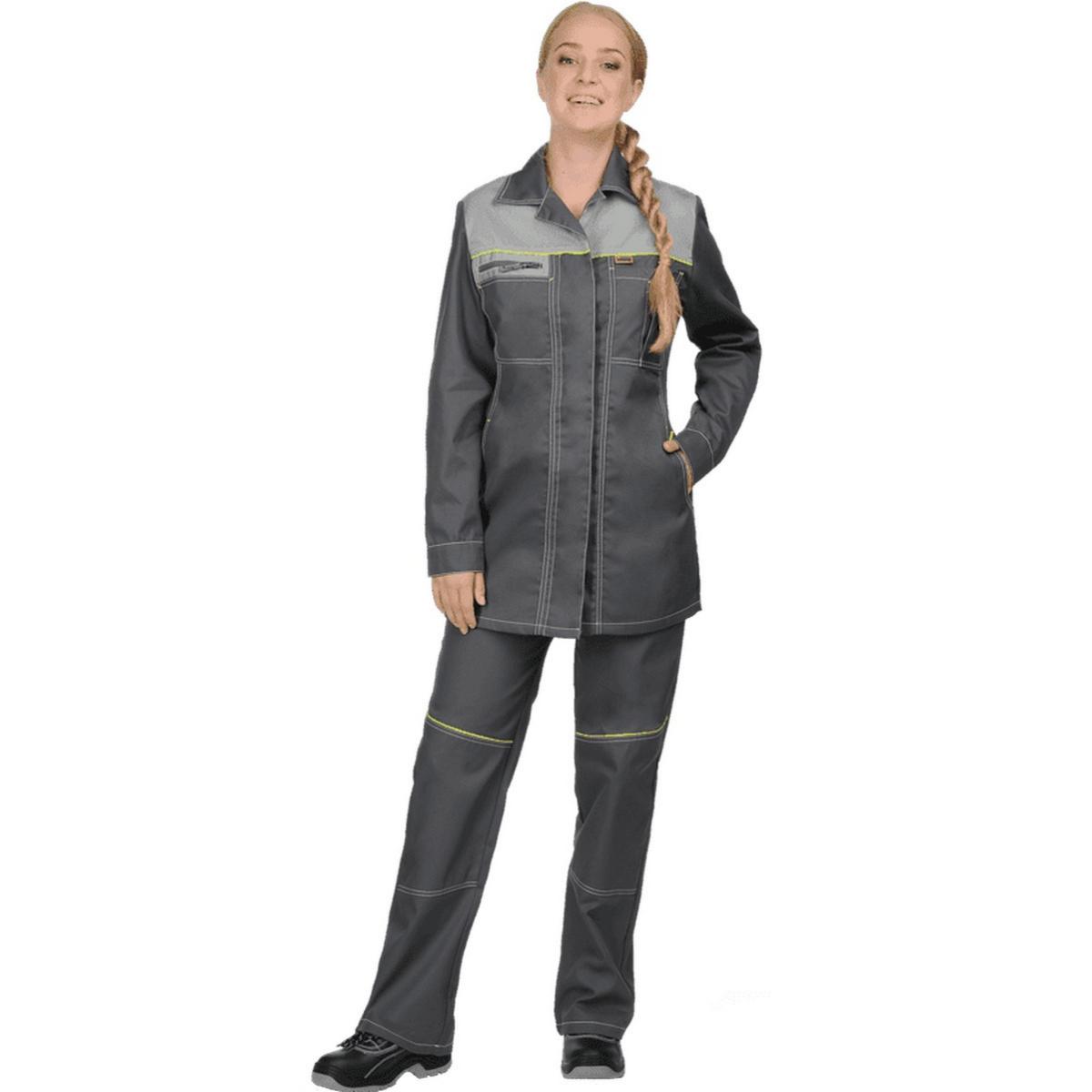 Куртка ТУРБО серая женская  (разм. 80-84 рост 170-176)