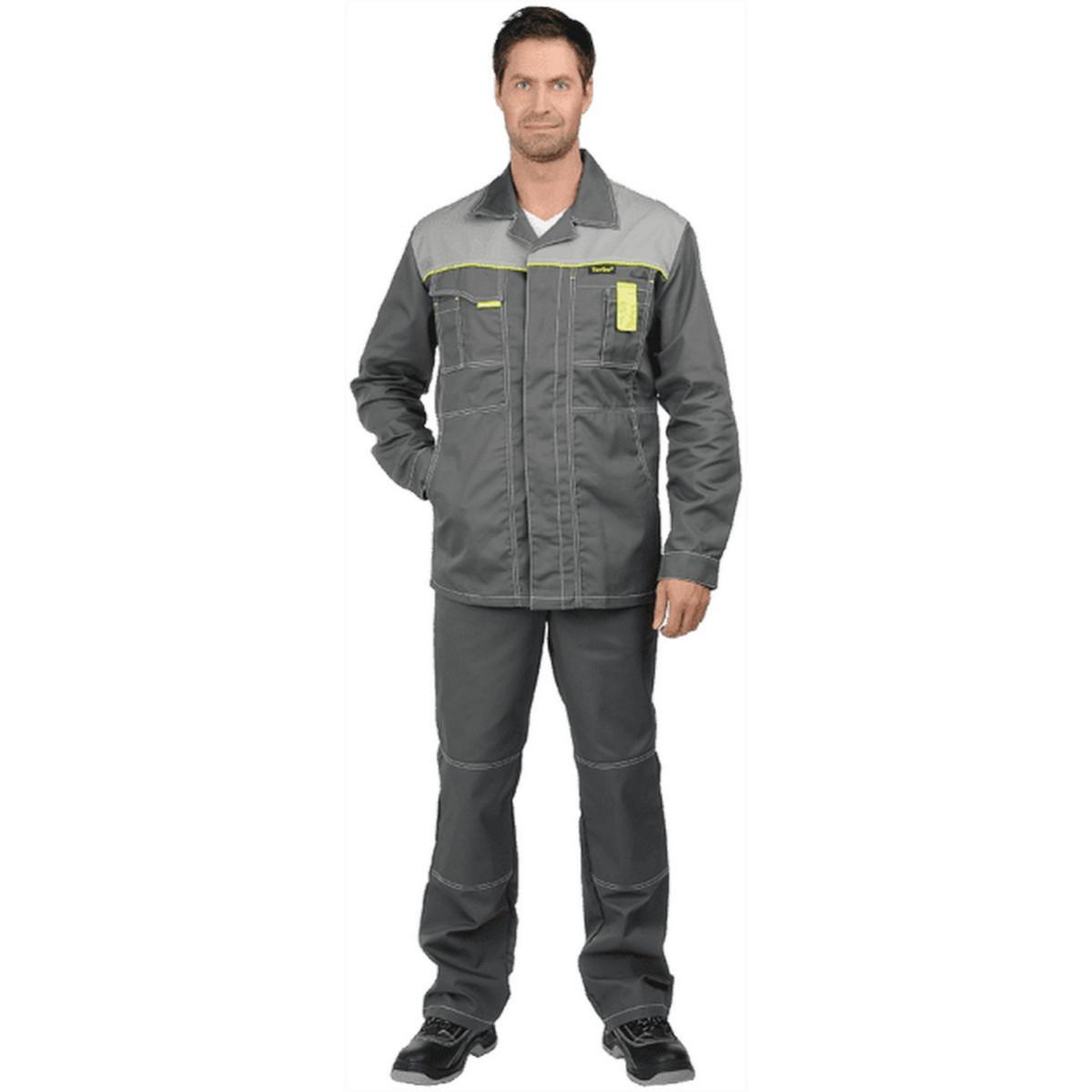 Куртка ТУРБО удлиненная серая (разм. 88-92 рост 170-176)