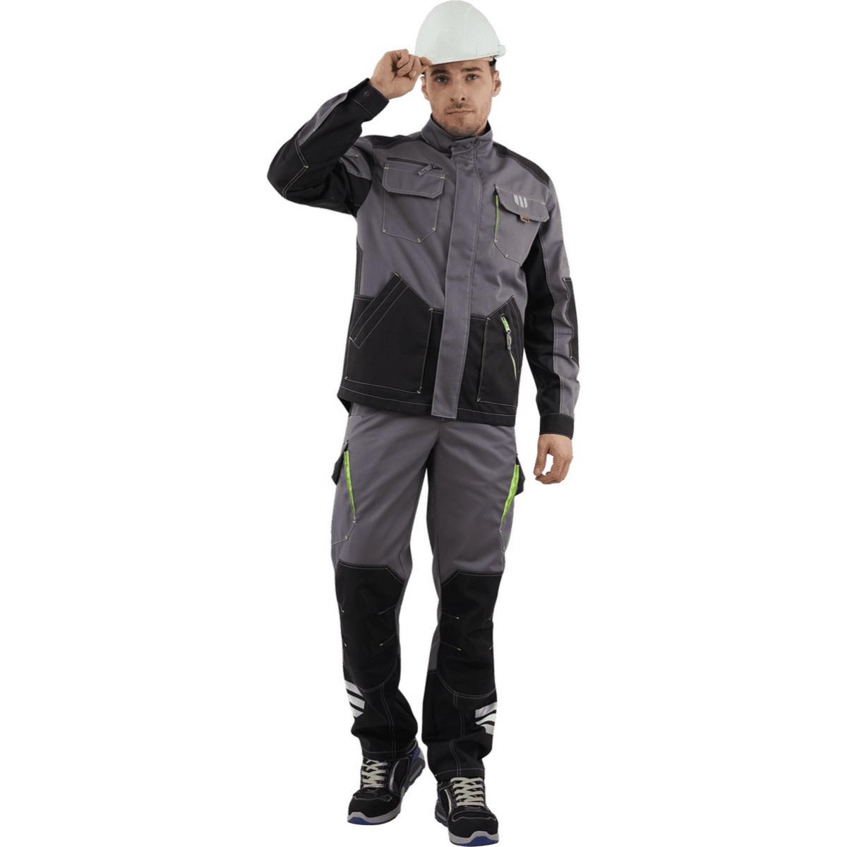 Куртка ЭДВАНС серый-т.серый-черный (разм. 104-108 рост 182-188)