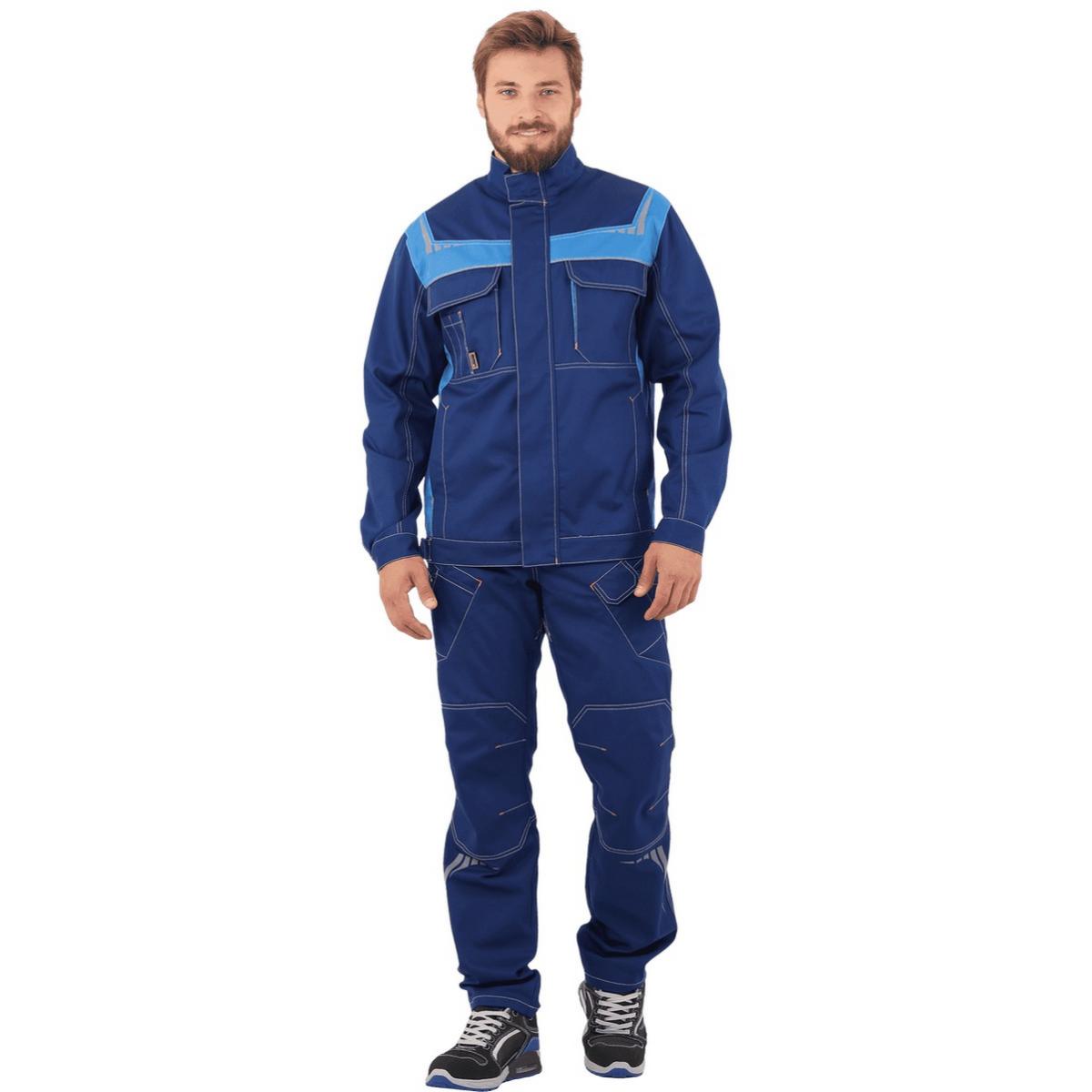 Куртка ПЕРФЕКТ синий-василек (разм. 104-108 рост 170-176)