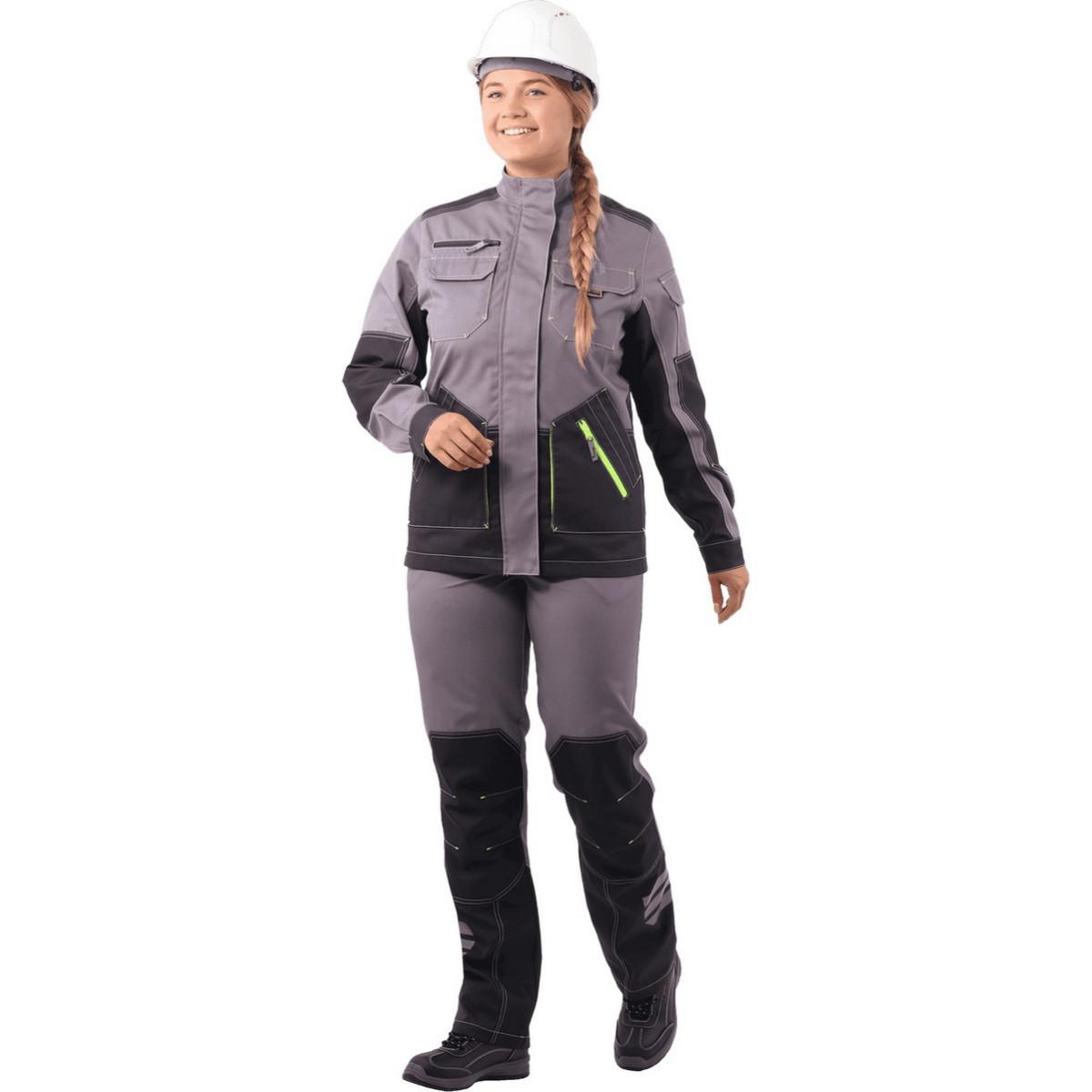 Куртка ЭДВАНС серый-т.серый-черный женская (разм. 88-92 рост 170-176)