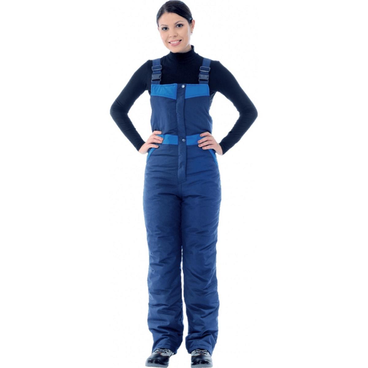 Полукомбинезон ЗИМУШКА утеплённый т/синий-василёк женский (разм. 120-124 рост 158-164)