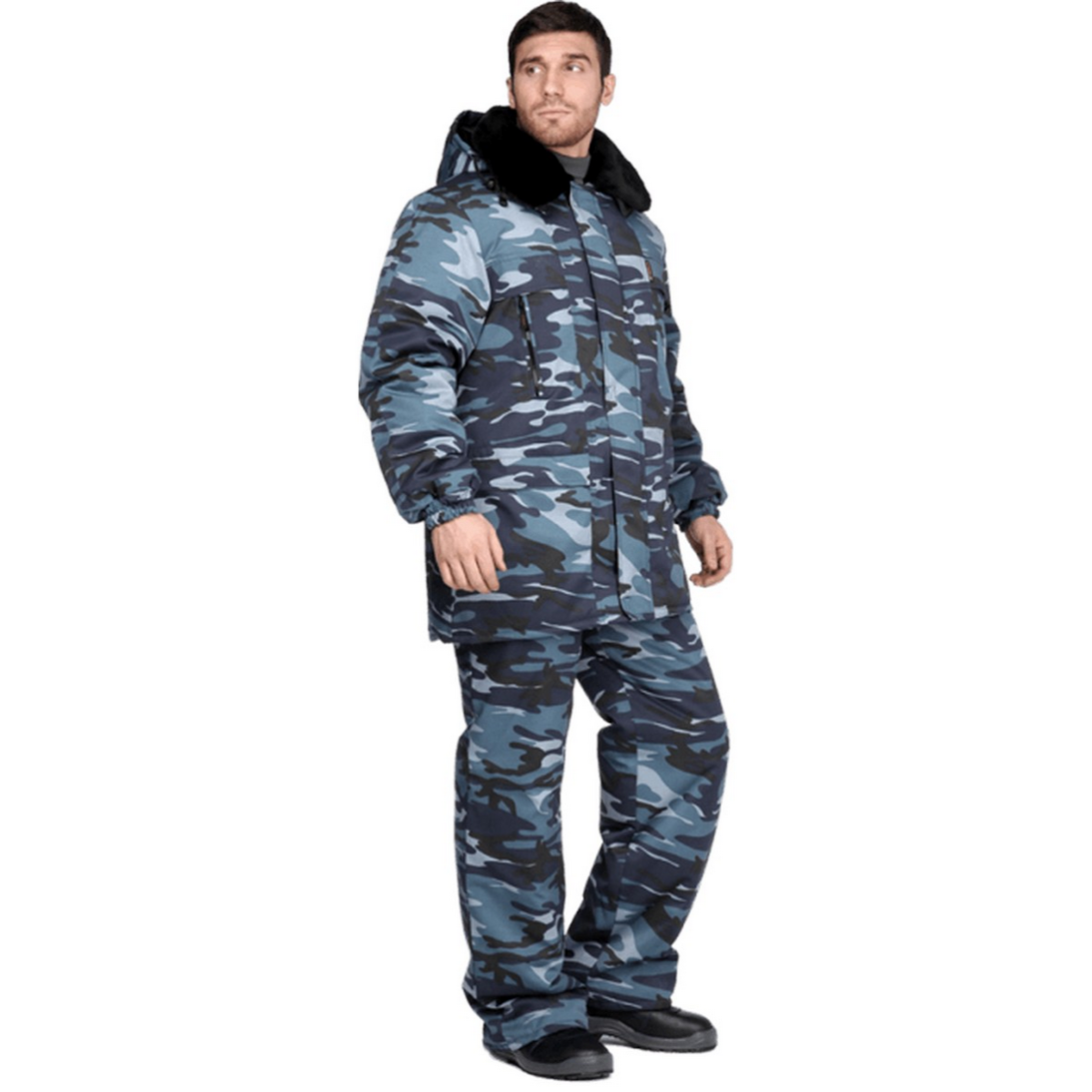 Костюм ГОРОД утеплённый КМФ серый (разм. 120-124 рост 170-176)