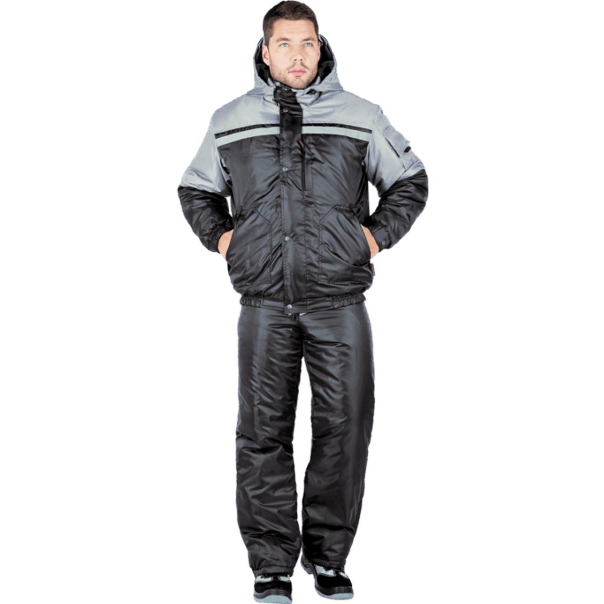 Костюм СТИМУЛ утеплённый чёрный-серый (разм. 128-132 рост 194-200)