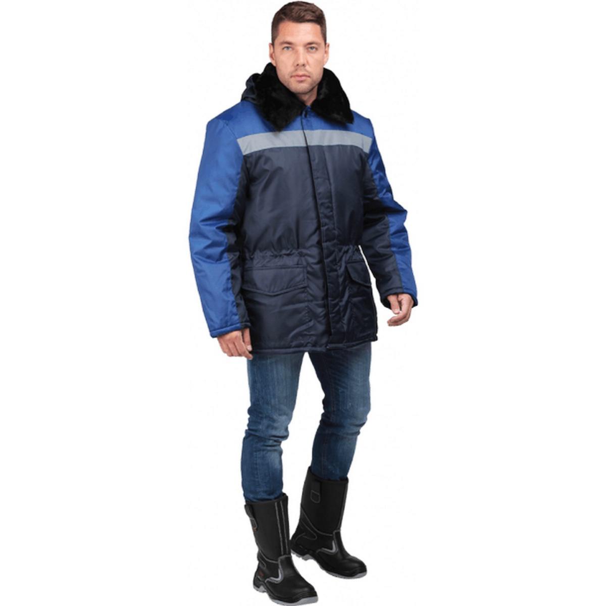 Куртка РЕГИОН утепленная т/синий-василек (разм. 96-100 рост 182-188)
