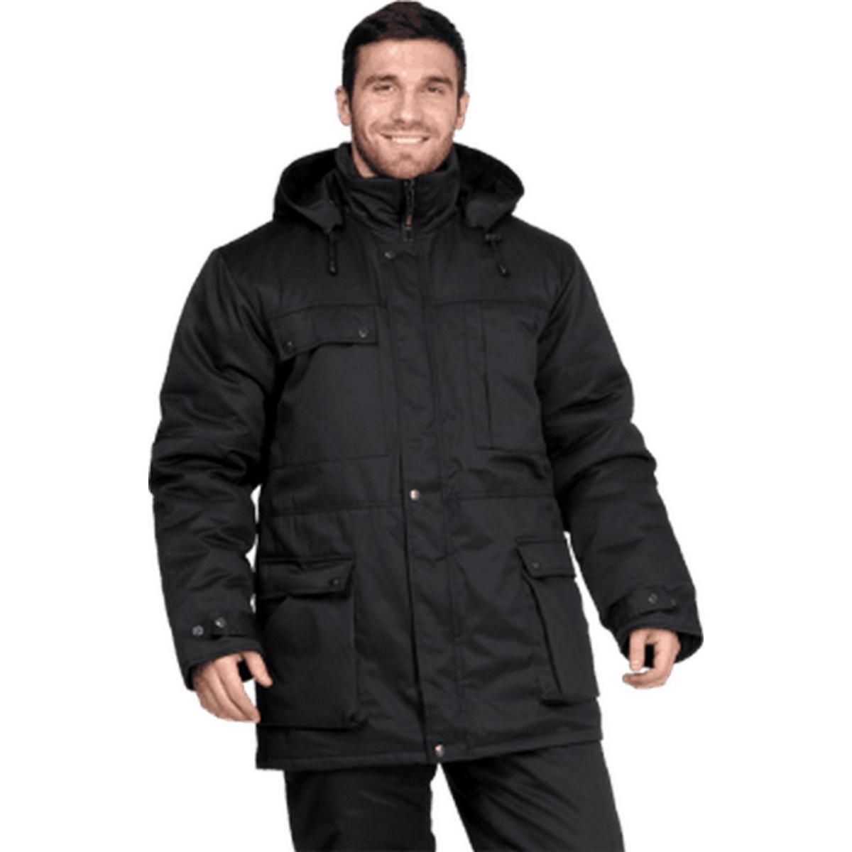 Куртка ЗАЩИТА утепленная черная (разм. 104-108 рост 158-164)