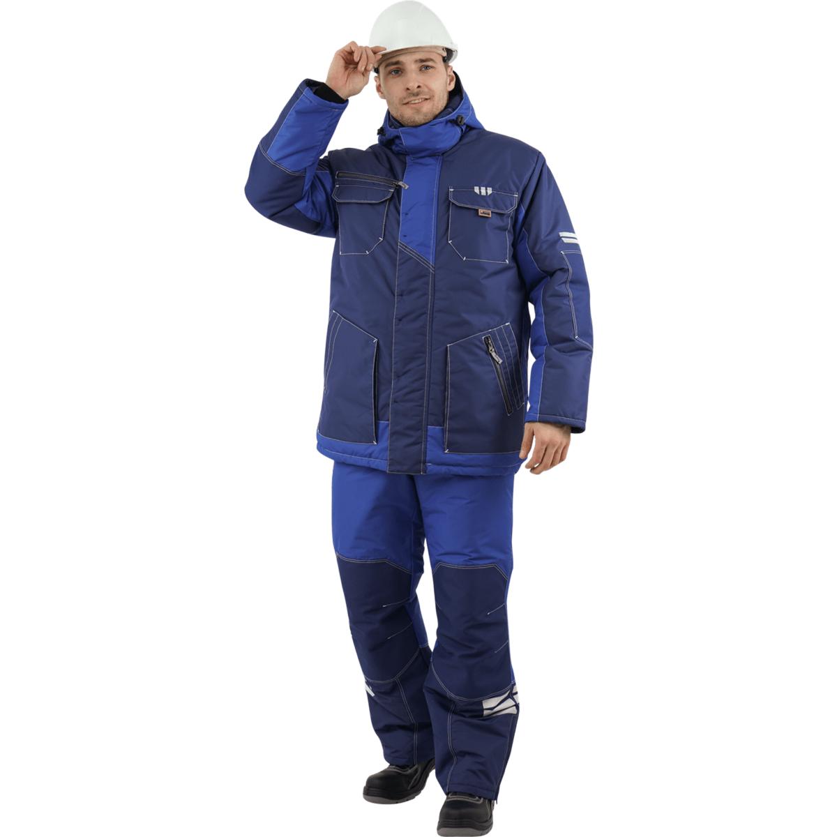 Куртка ЭДВАНС утепленная синий-василек (разм. 112-116 рост 170-176)