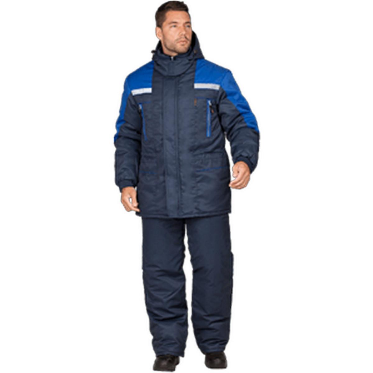Куртка СПЕЦ утепленная т/синий-василек (разм. 128-132 рост 170-176)