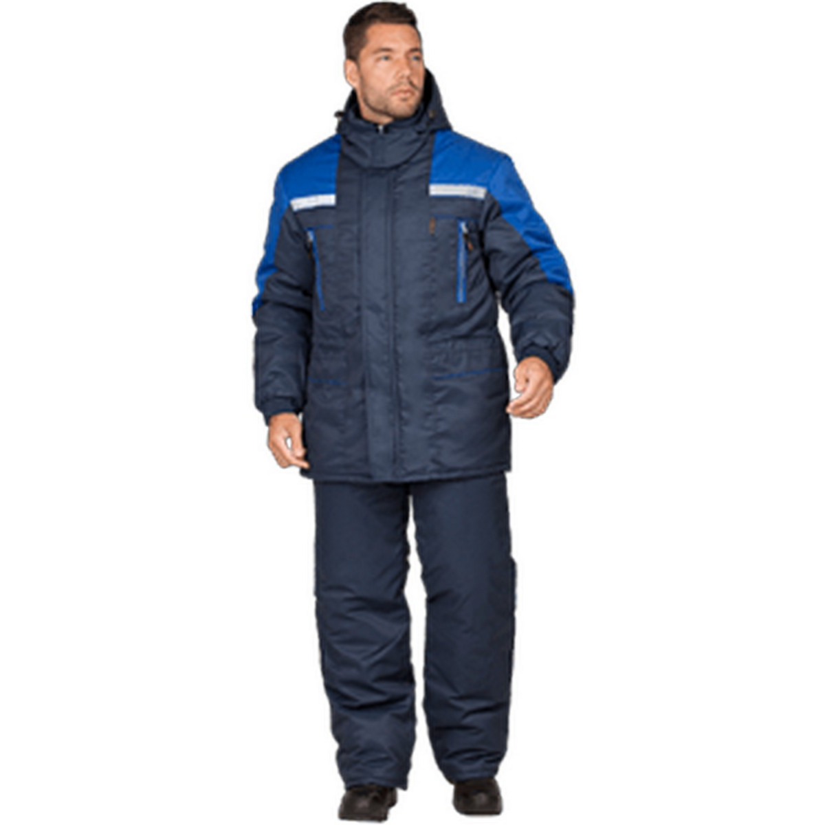 Куртка СПЕЦ утепленная т/синий-василек (разм. 128-132 рост 182-188)