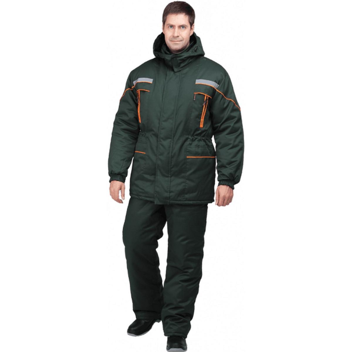 Куртка ЛАНДШАФТ утепленная зеленый (разм. 120-124 рост 182-188)