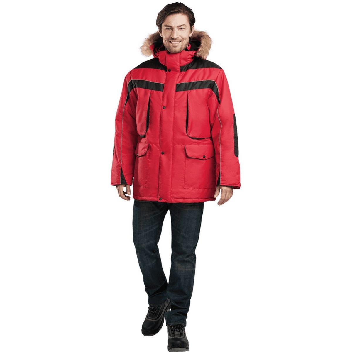 Куртка ДИКСОН утепленная красный-черный (разм. 112-116 рост 182-188)