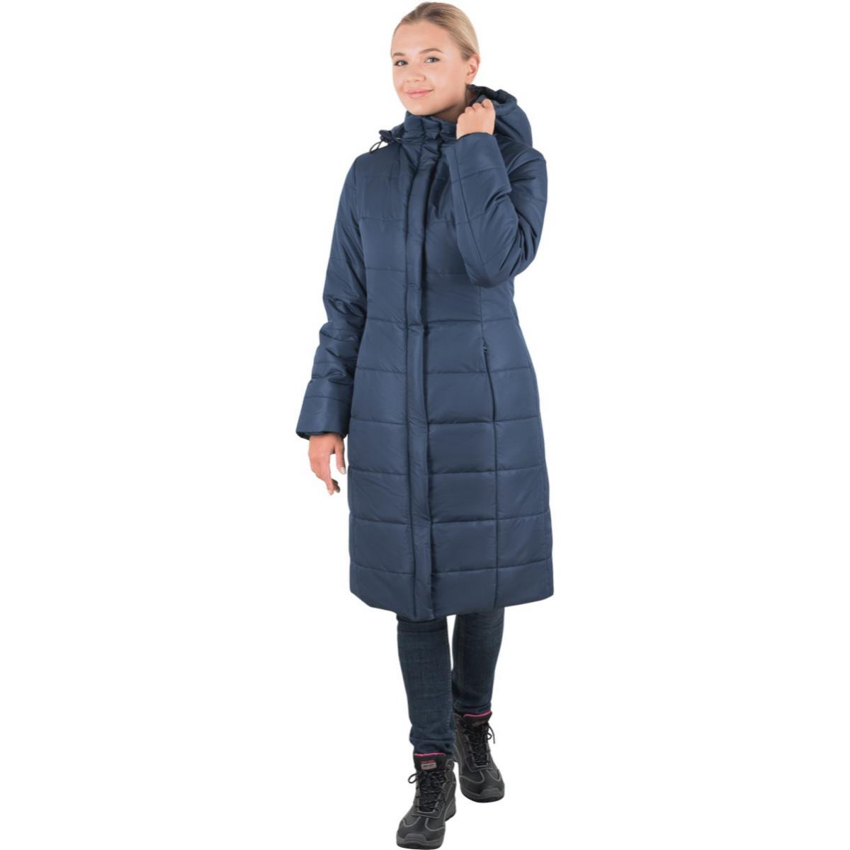 Пальто ФЬЮЖЕН утепленное т/синий женское (разм. 120-124 рост 158-164)