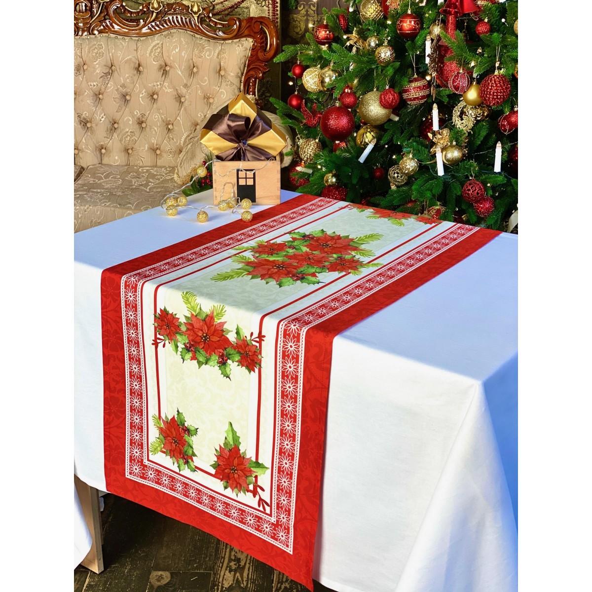 Дорожка на стол Naturel Загадка NG-1-50x150-RED 50х150 см