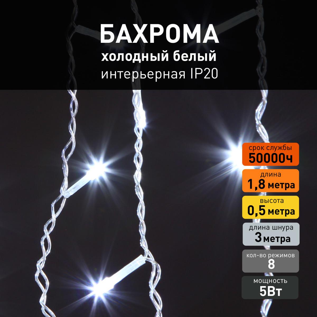 Гирлянда Eurosvet 100-001 белый 64 лампочки