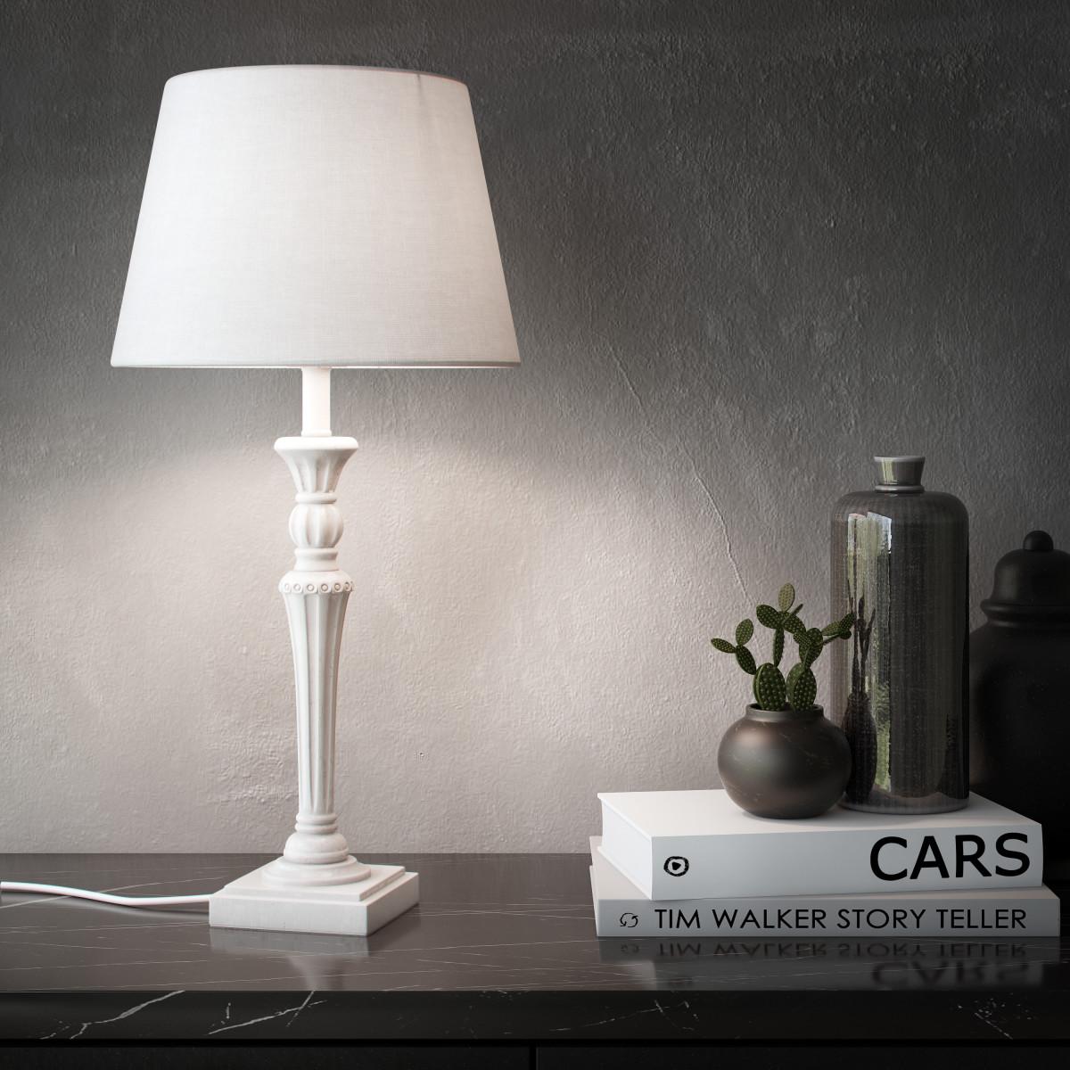 Основание Для Лампы Lady 1 Лампа E27 455 Цвет Белый