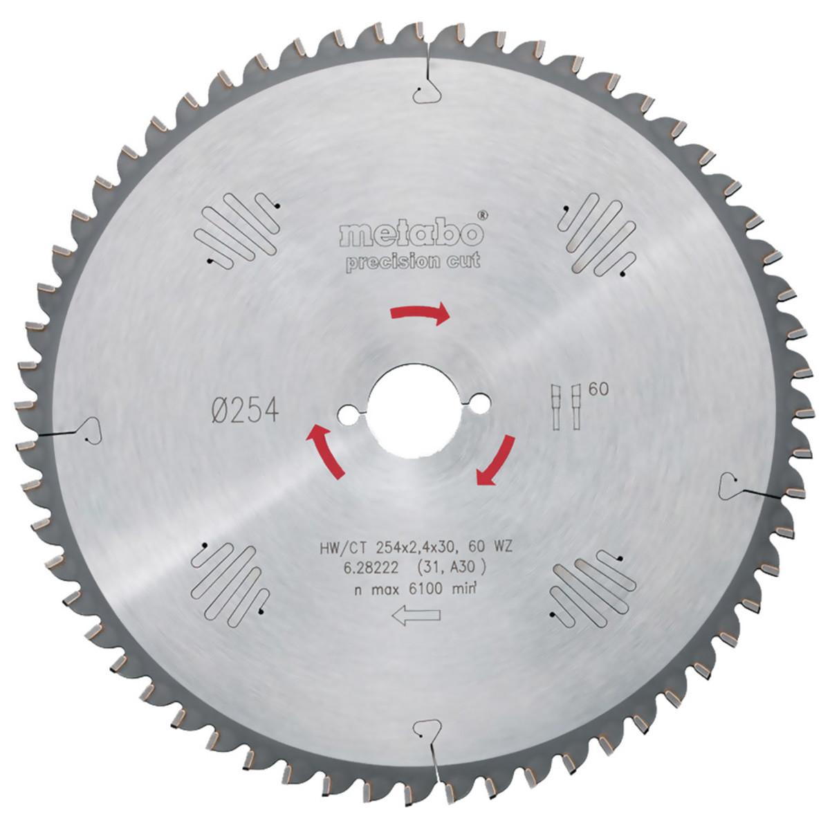 Пильный диск Metabo Power Cut HW/CT 190x30 14 WZ передний угол 25° (628005000)