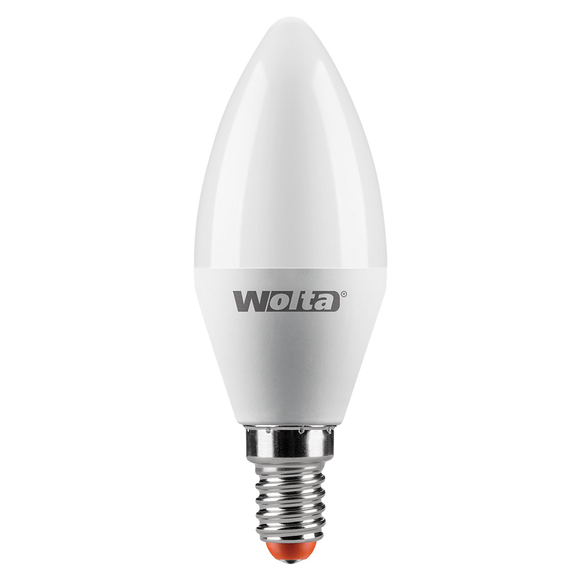 Лампа светодиодная Wolta свеча E14 8 Вт 800 Лм свет тёплый белый