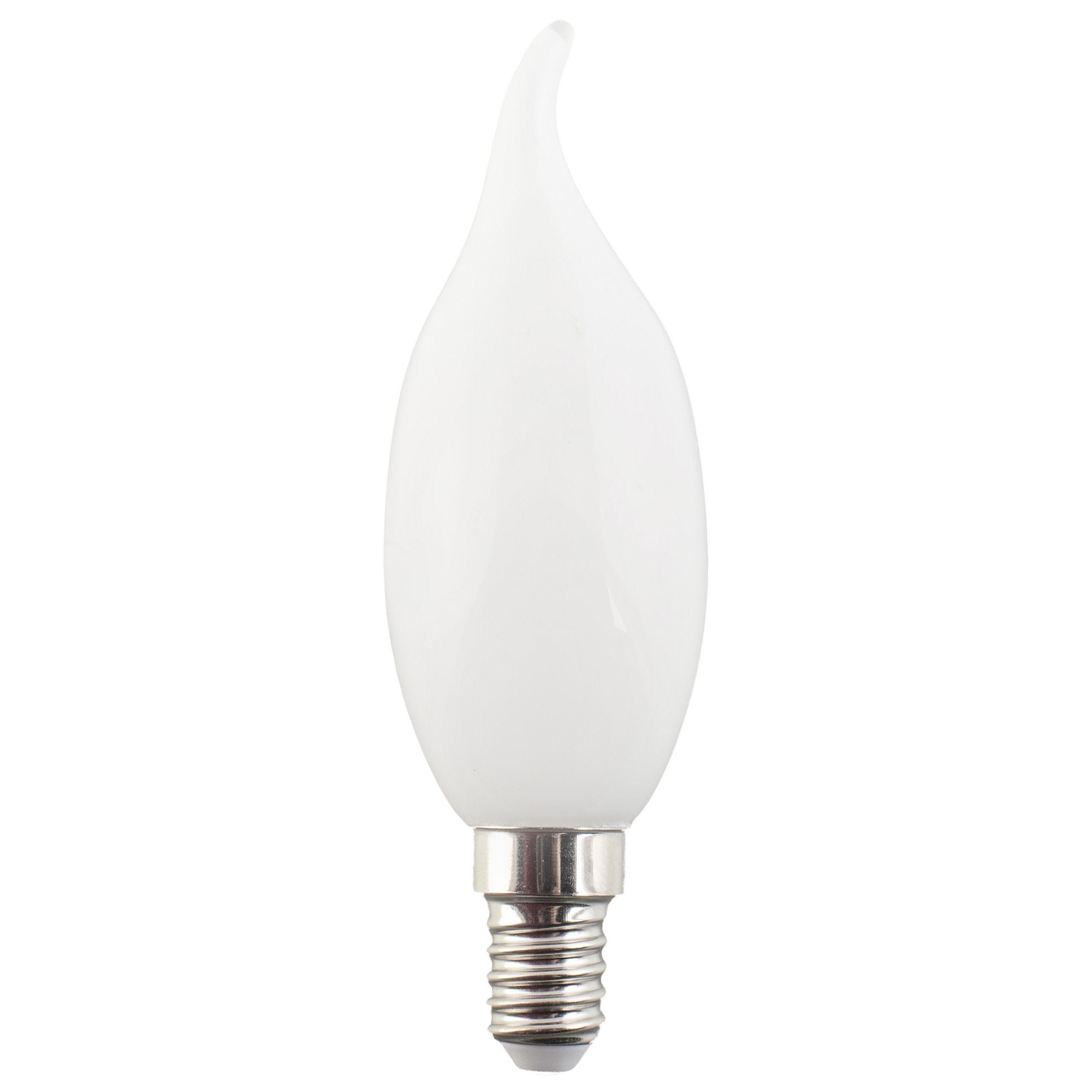 Лампа светодиодная GL Lexman свеча на ветру E14 5 Вт 470 Лм свет нейтральный белый