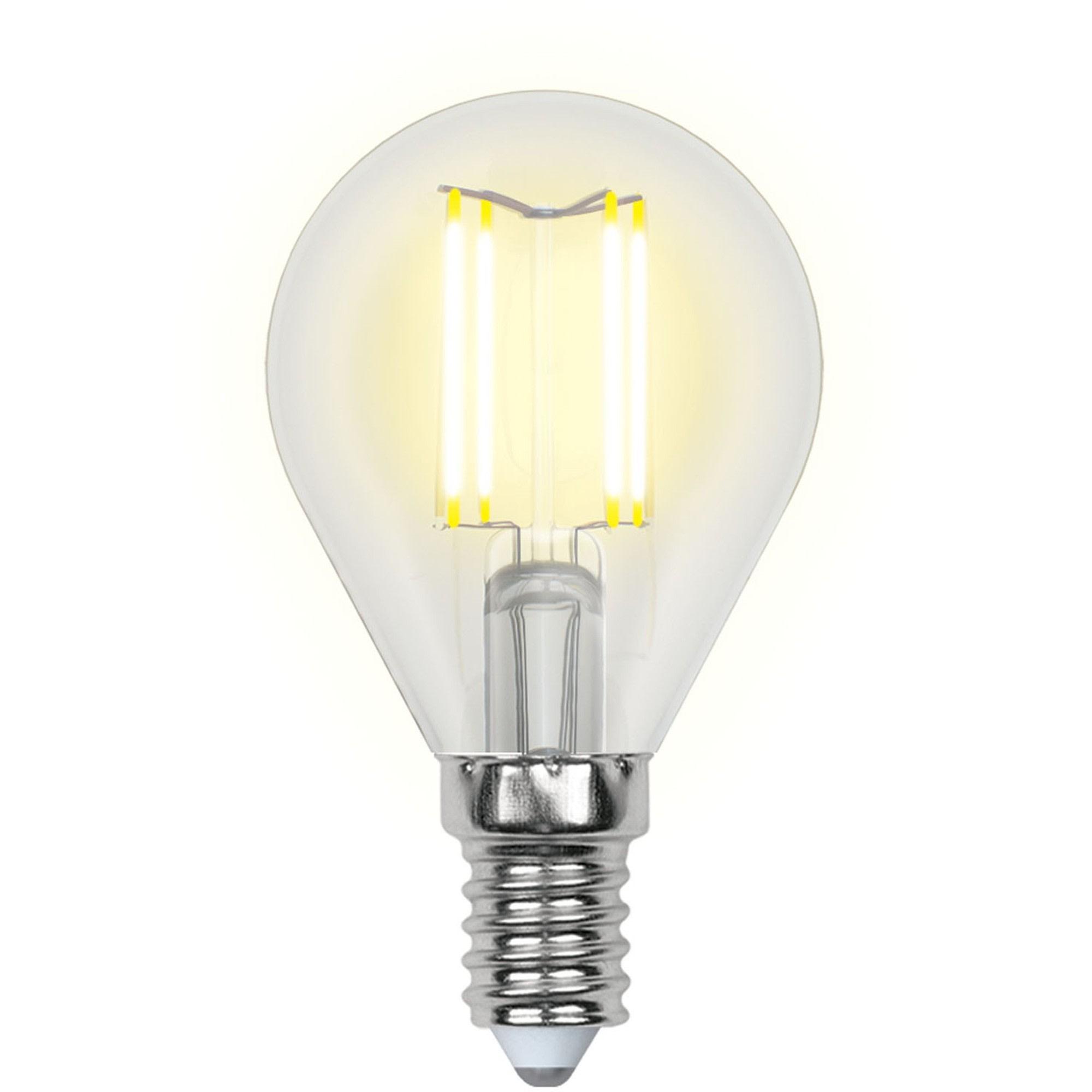 Лампа светодиодная Uniel шар E14 6 Вт 500 Лм свет холодный