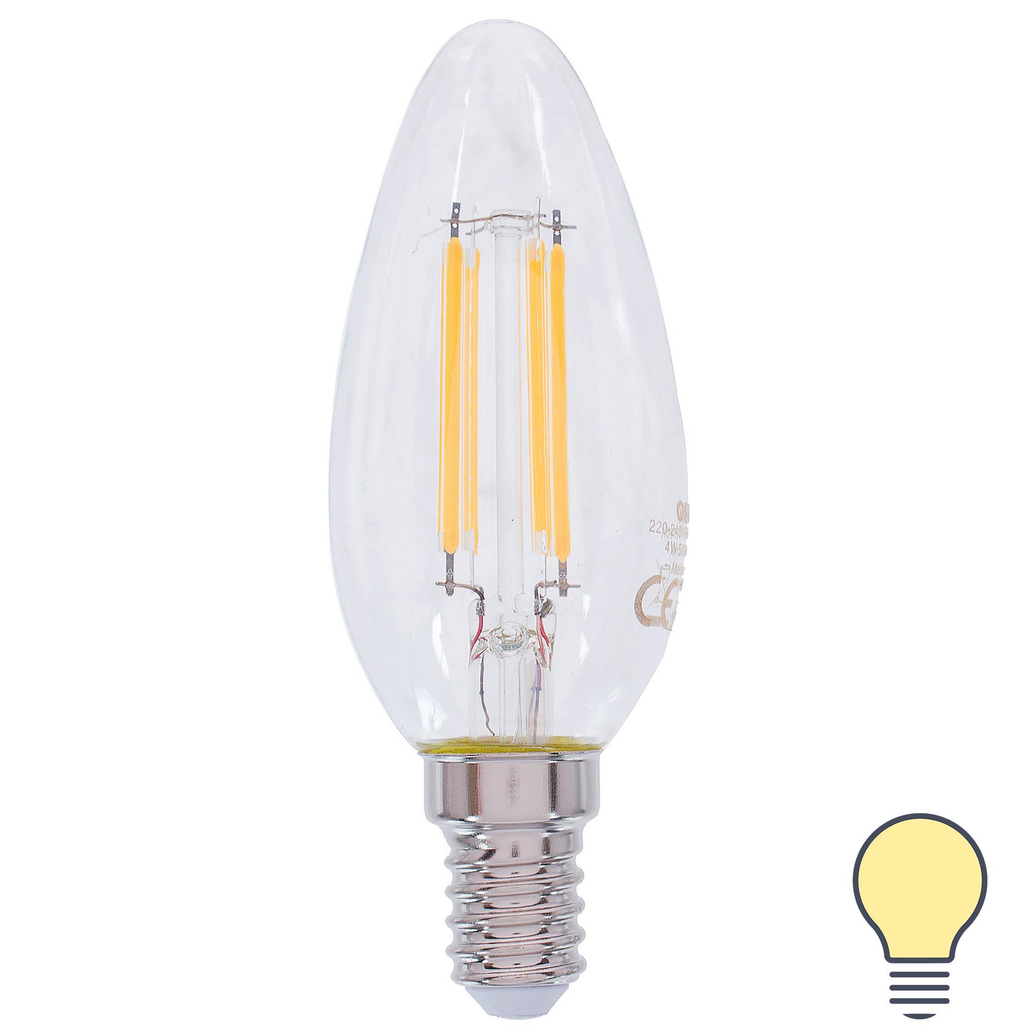 Лампа светодиодная Osram E14 4 Вт 470 Лм свет тёплый белый
