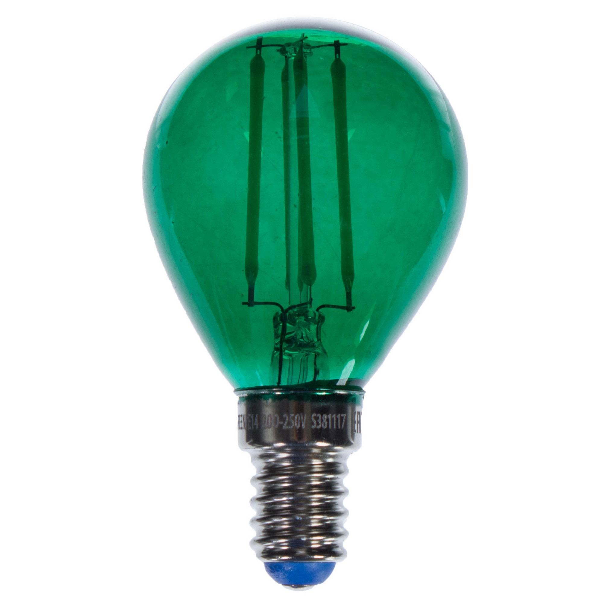 Лампа светодиодная Uniel Color шар E14 5 Вт свет зеленый