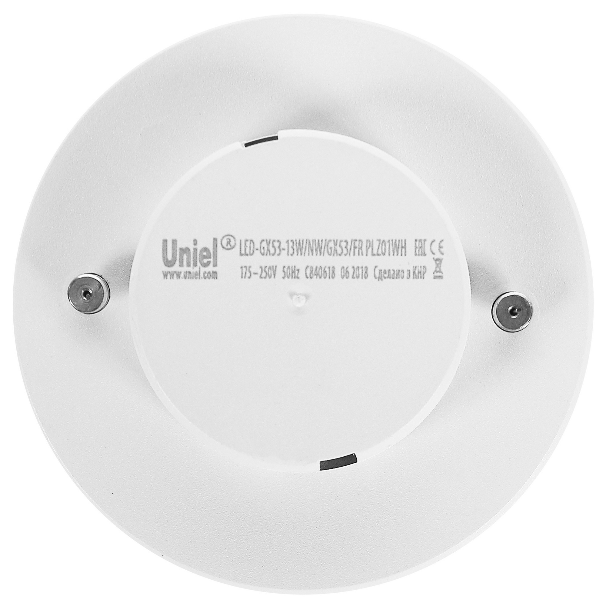 Лампа светодиодная Uniel GX53 13 Вт 1150 Лм свет тёплый белый