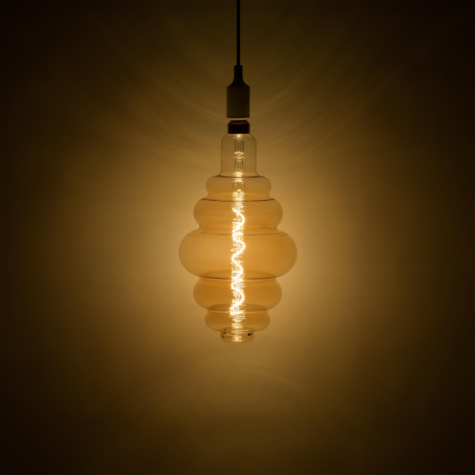Лампа большая филаментная Gauss Vintage E27 6 Вт золотая колба диаметр 20 см