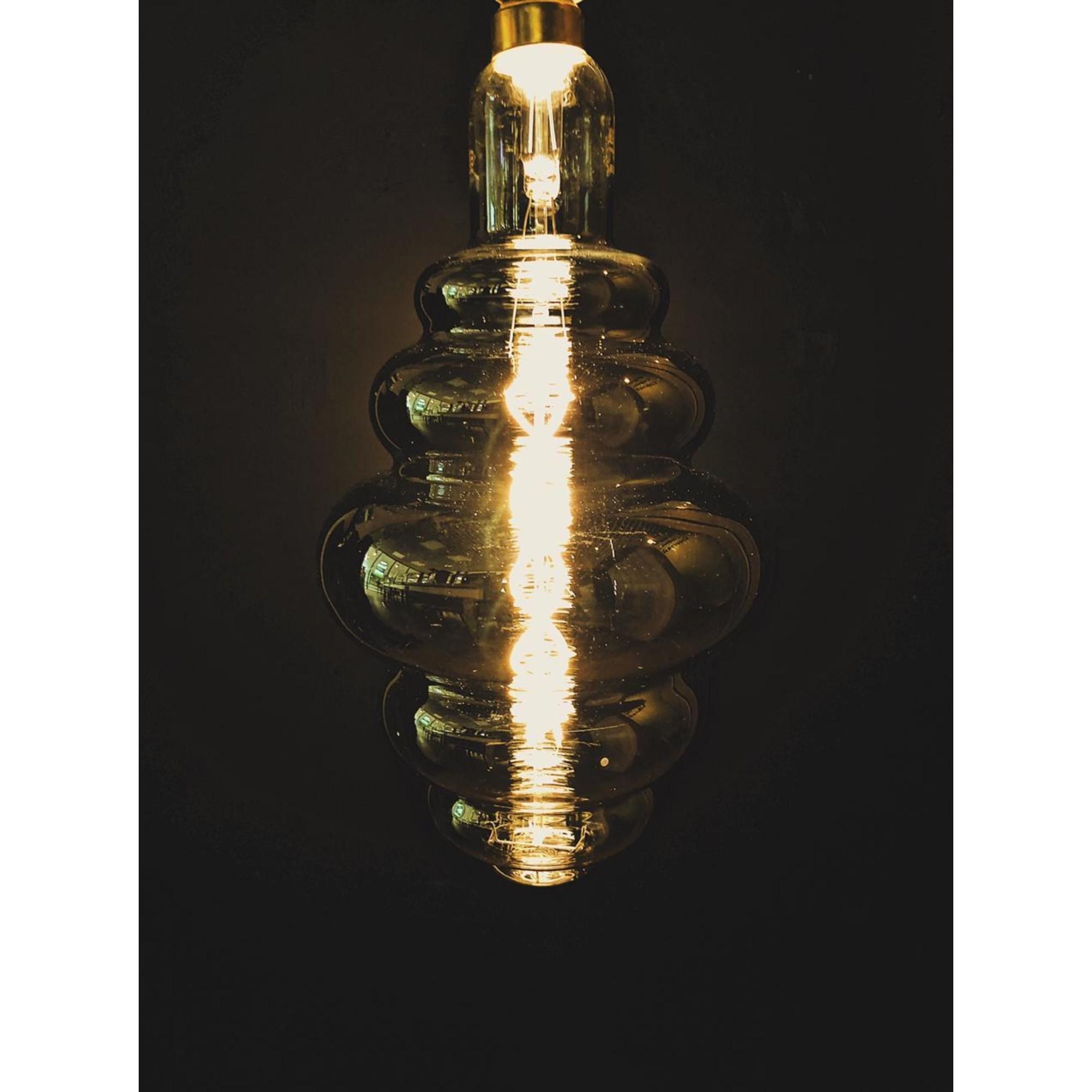 Лампа большая филаментная Gauss Vintage E27 8 Вт зеркальная колба диаметр 20 см