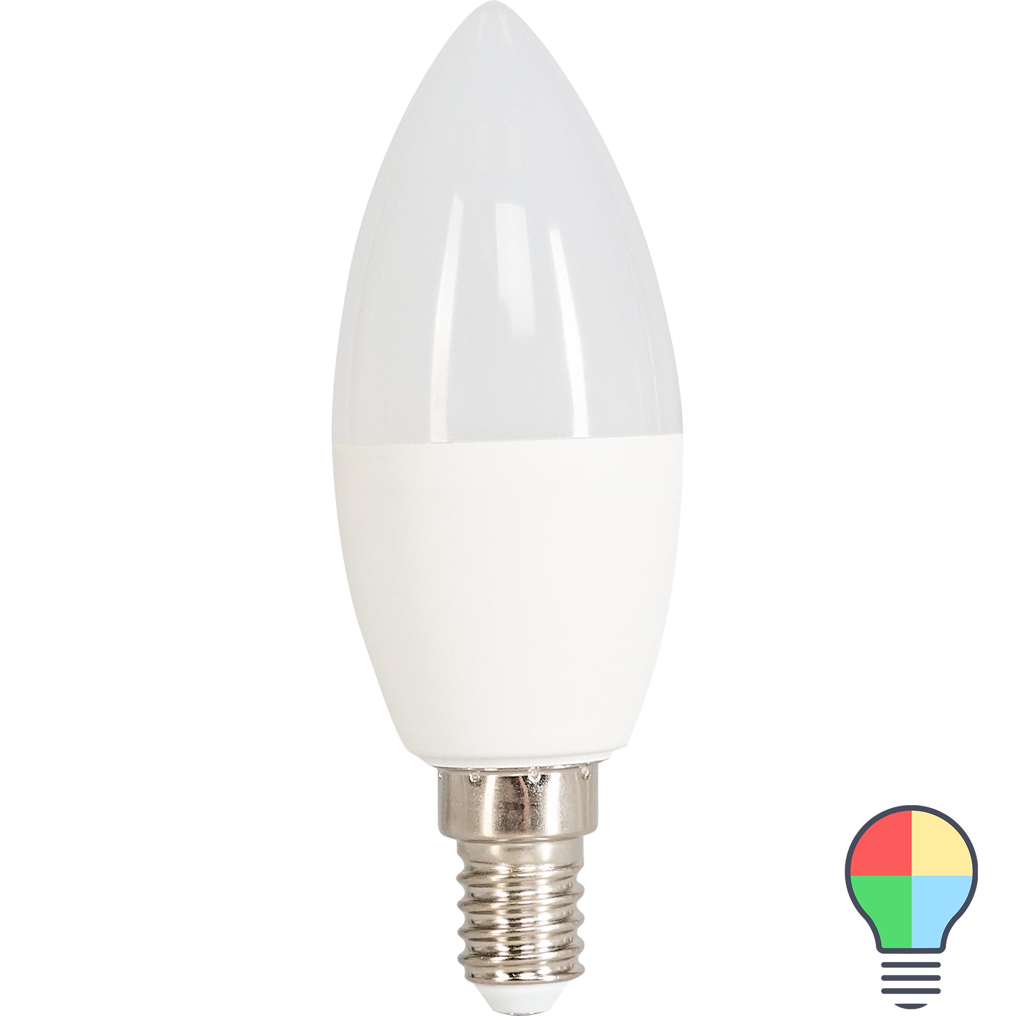 Лампа светодиодная Osram E14 220-240 В 5.5 Вт свеча 470 лм свет RGB