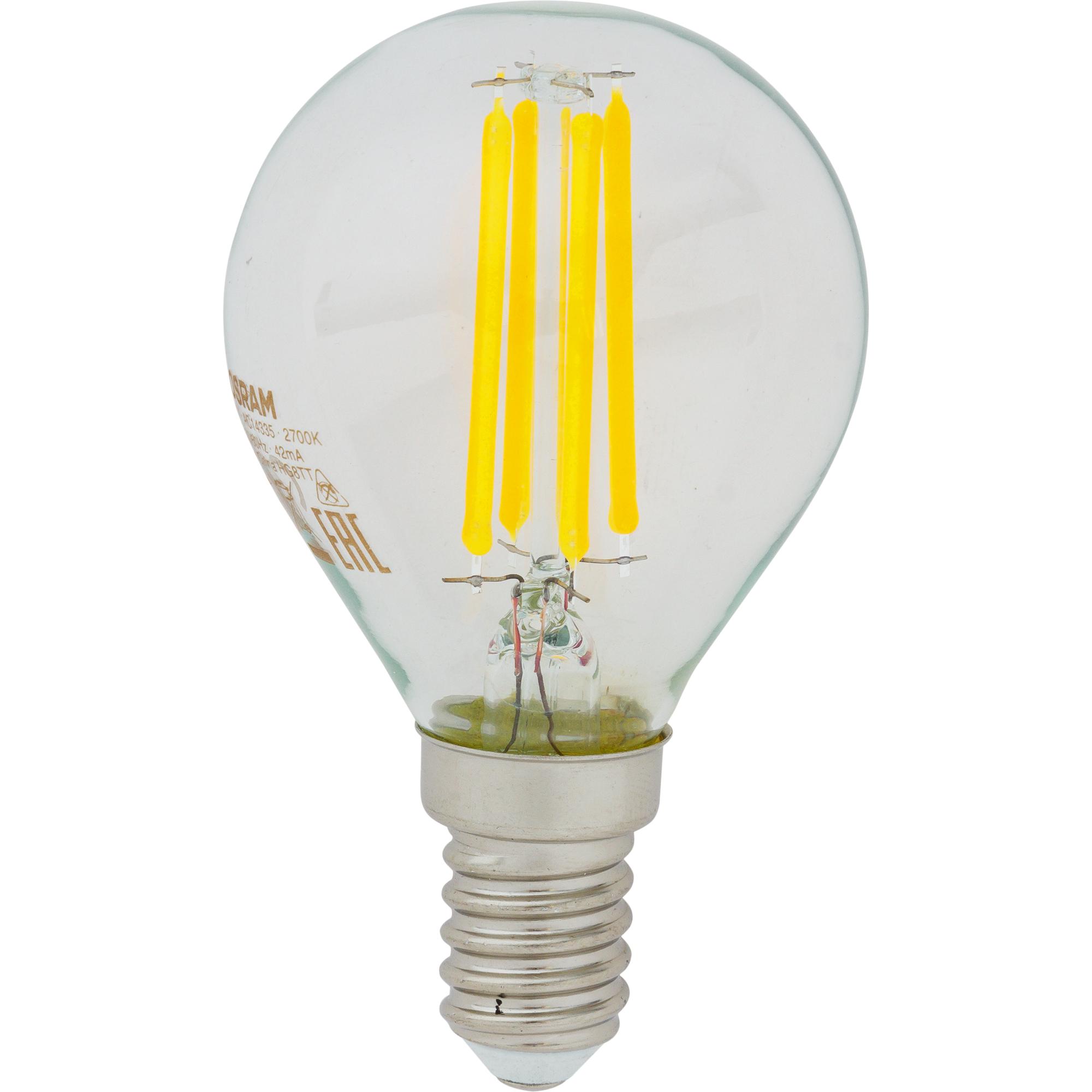 Лампа светодиодная Osram E14 220 В 5 Вт шар 660 лм холодный белый свет