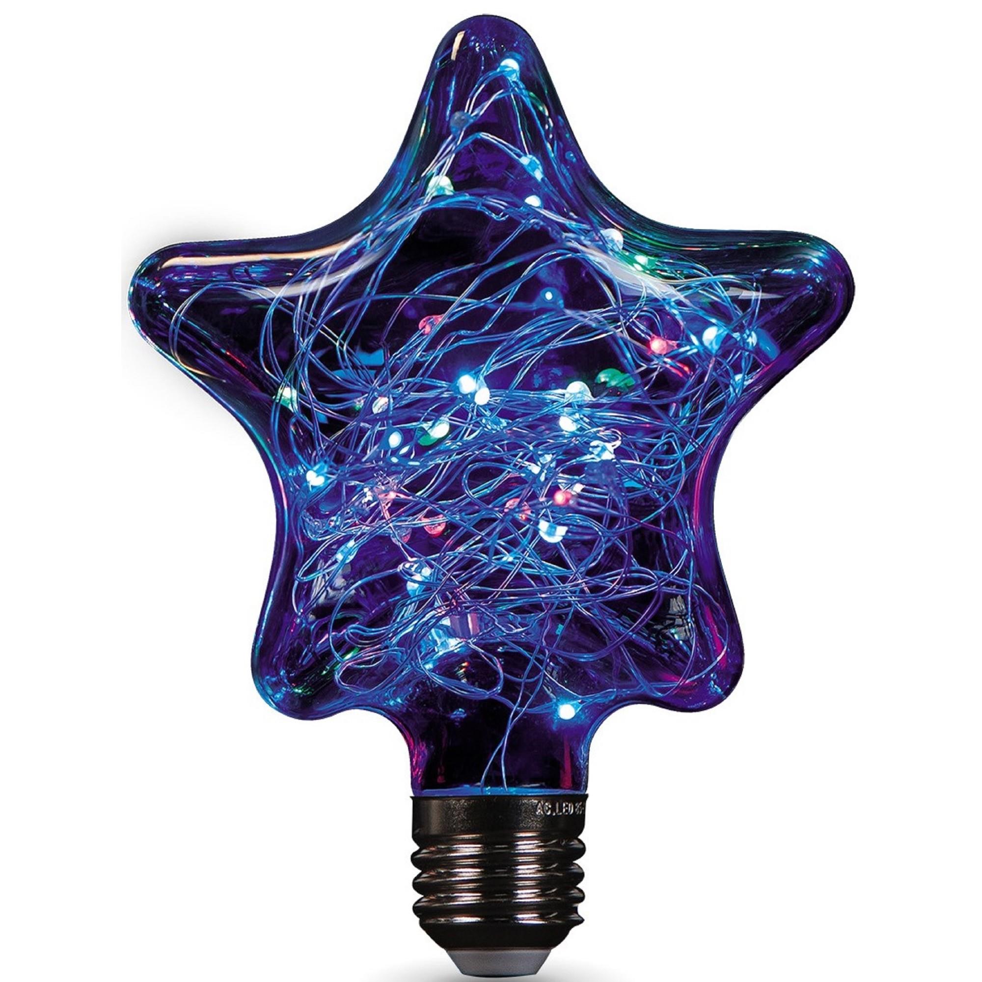 Лампа светодиодная Gauss Vintage Star E27 220-240 В 2 Вт звезда свет RGB