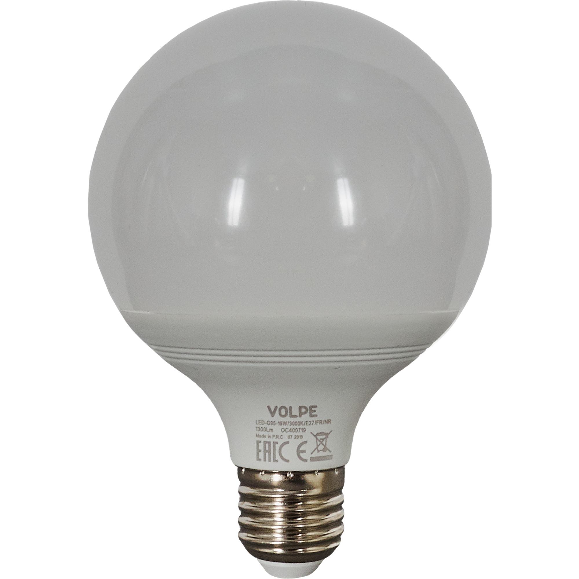 Лампа светодиодная Volpe Norma E27 220 В 16 Вт шар 1300 лм тёплый белый свет