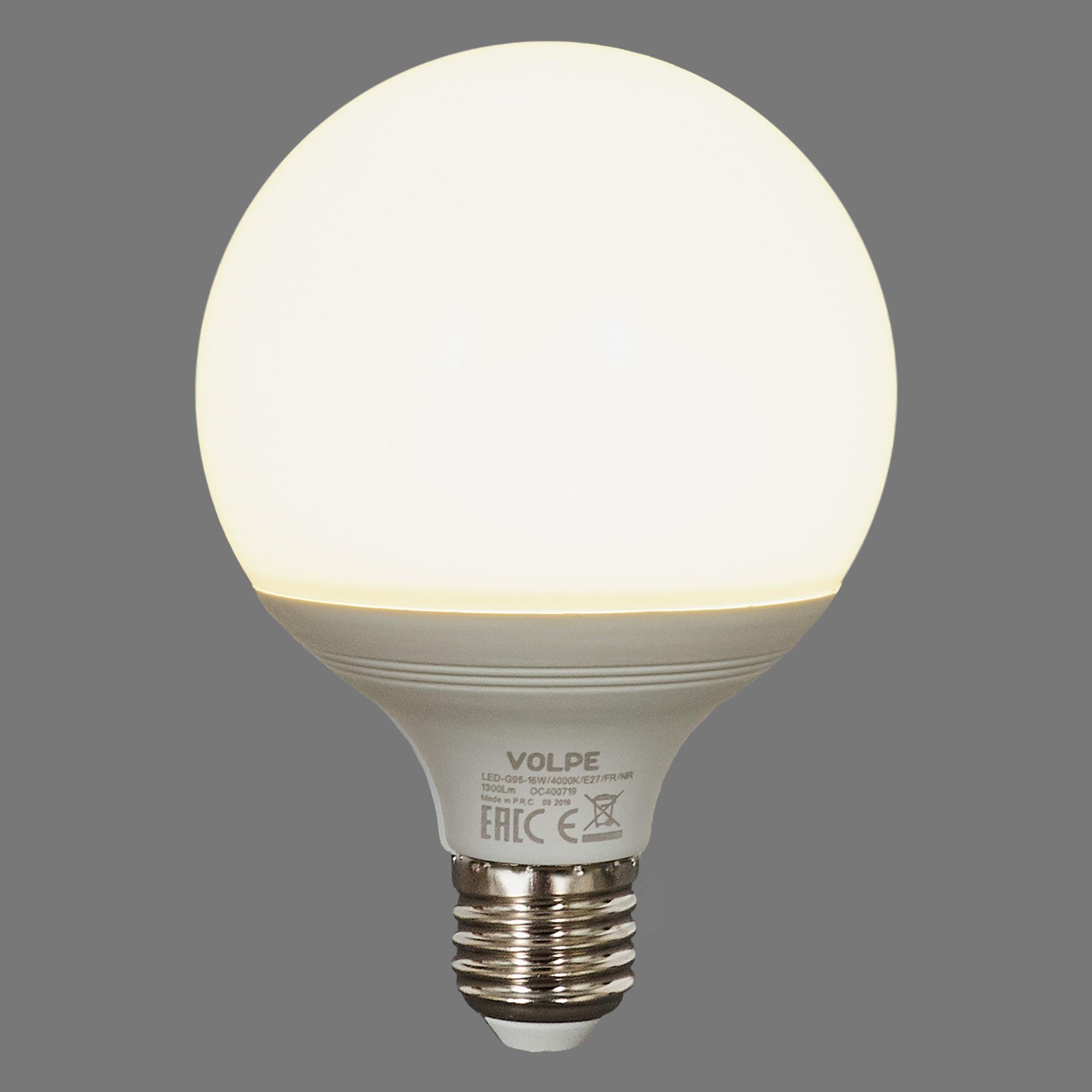 Лампа светодиодная Volpe Norma E27 220 В 16 Вт шар 1300 лм белый свет