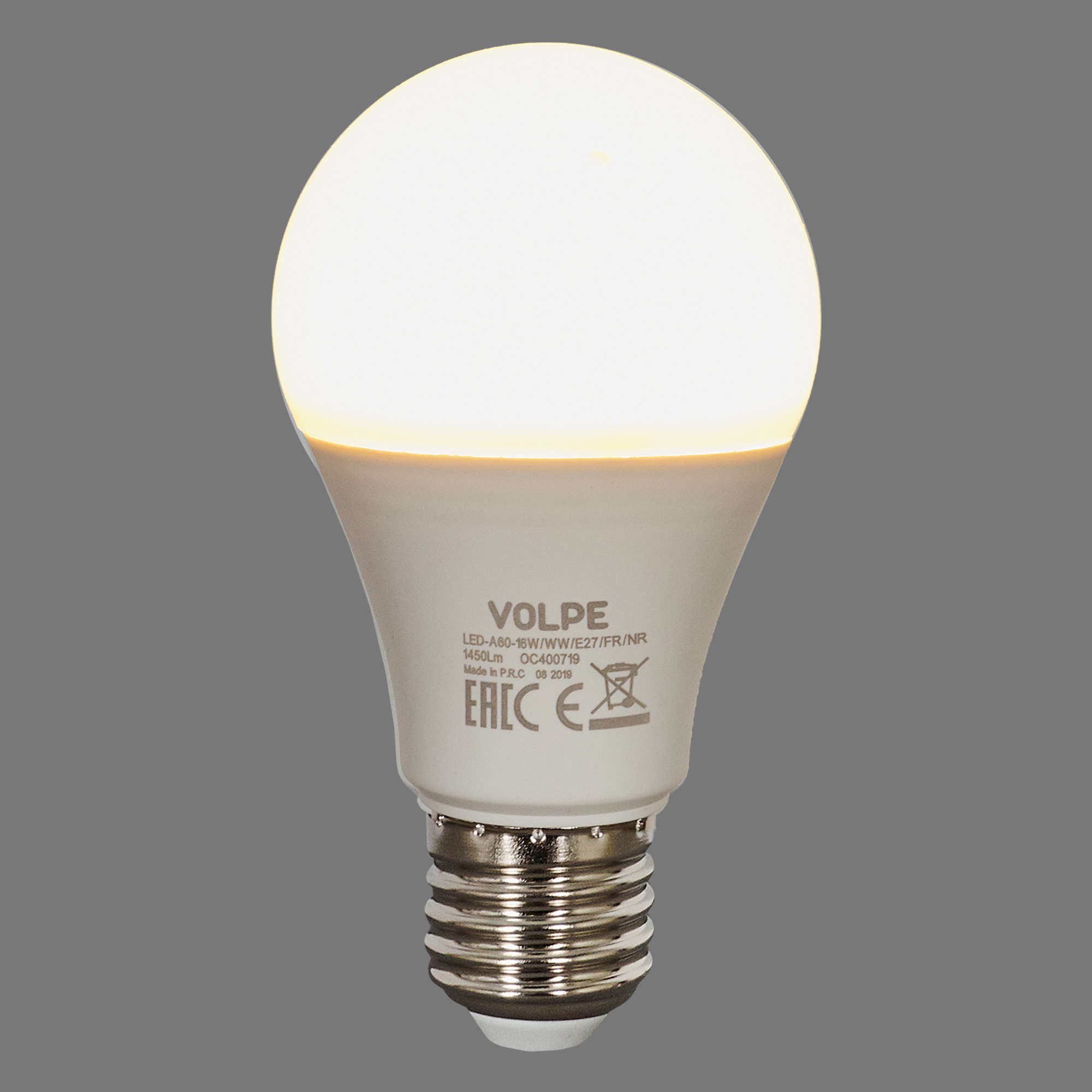 Лампа светодиодная Volpe Norma E27 220 В 16 Вт груша 1450 лм тёплый белый свет